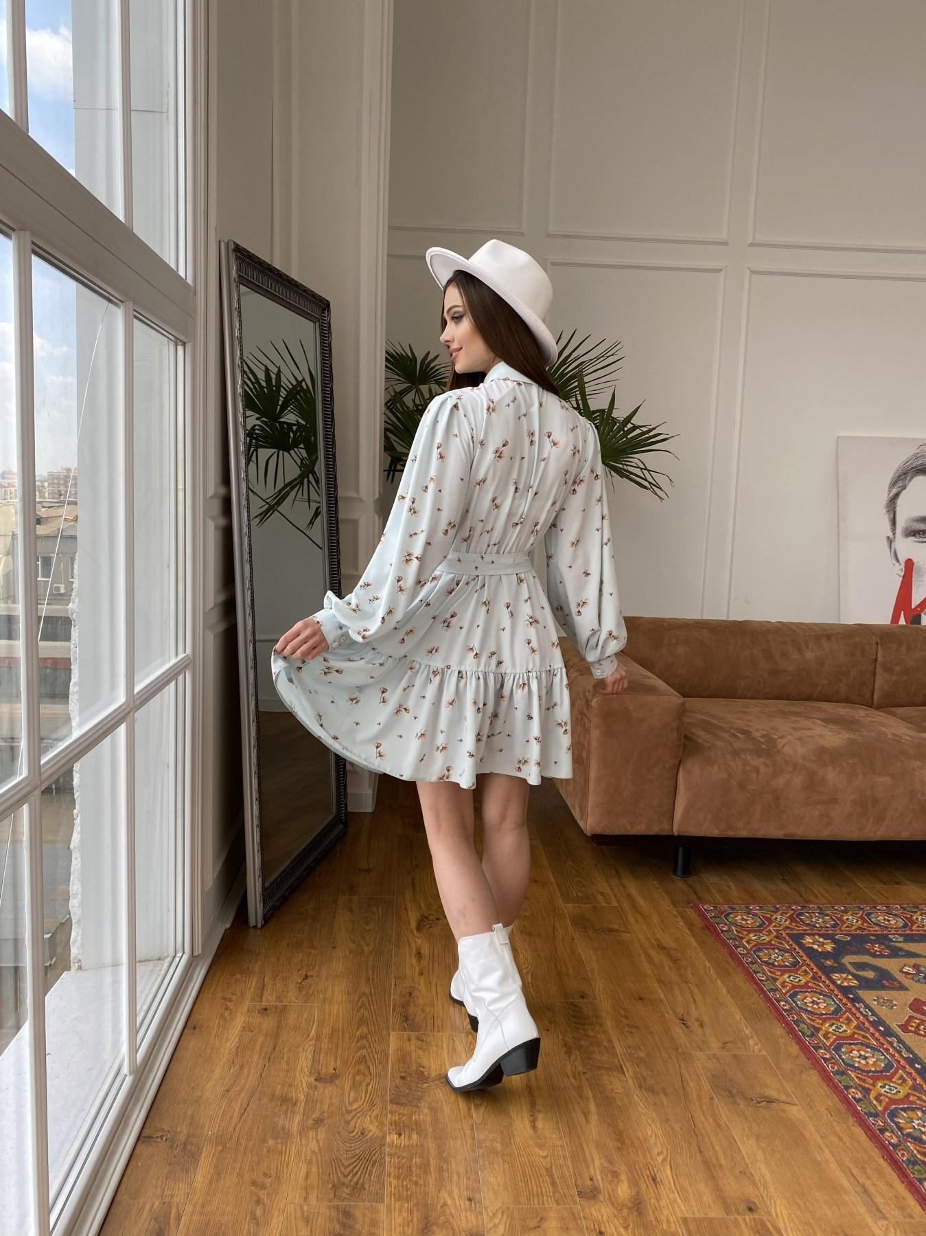Молизе  платье из софта с принтом 11110 АРТ. 47602 Цвет: МятаСв/БежЦветокМел - фото 8, интернет магазин tm-modus.ru