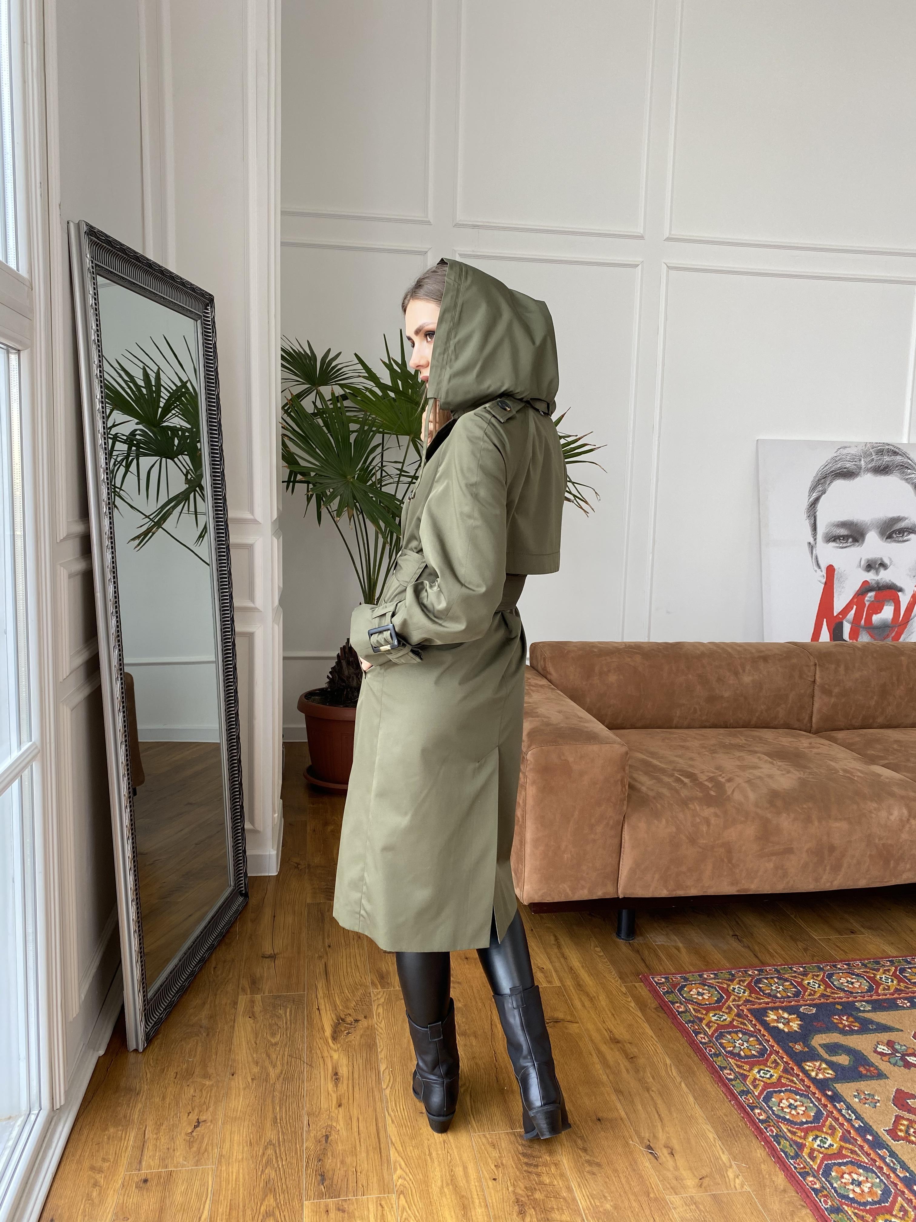 Винченсо тренч из плотной плащевки 10866 АРТ. 47331 Цвет: Хаки - фото 10, интернет магазин tm-modus.ru