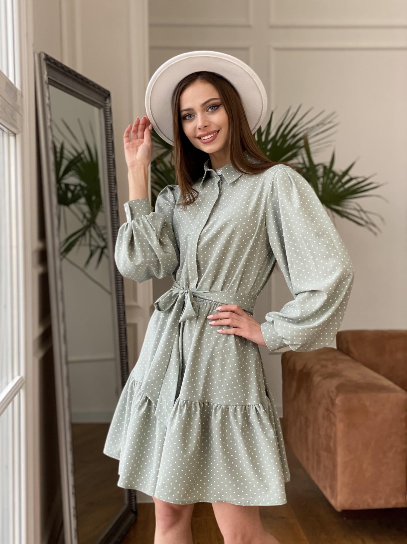 Купить платья оптом в Украине Молизе  платье из софта с принтом 11110