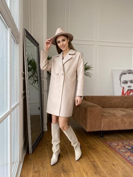"""Купить """"Сенсей"""" пальто  из гладкого кашемира 10905 оптом и в розницу"""