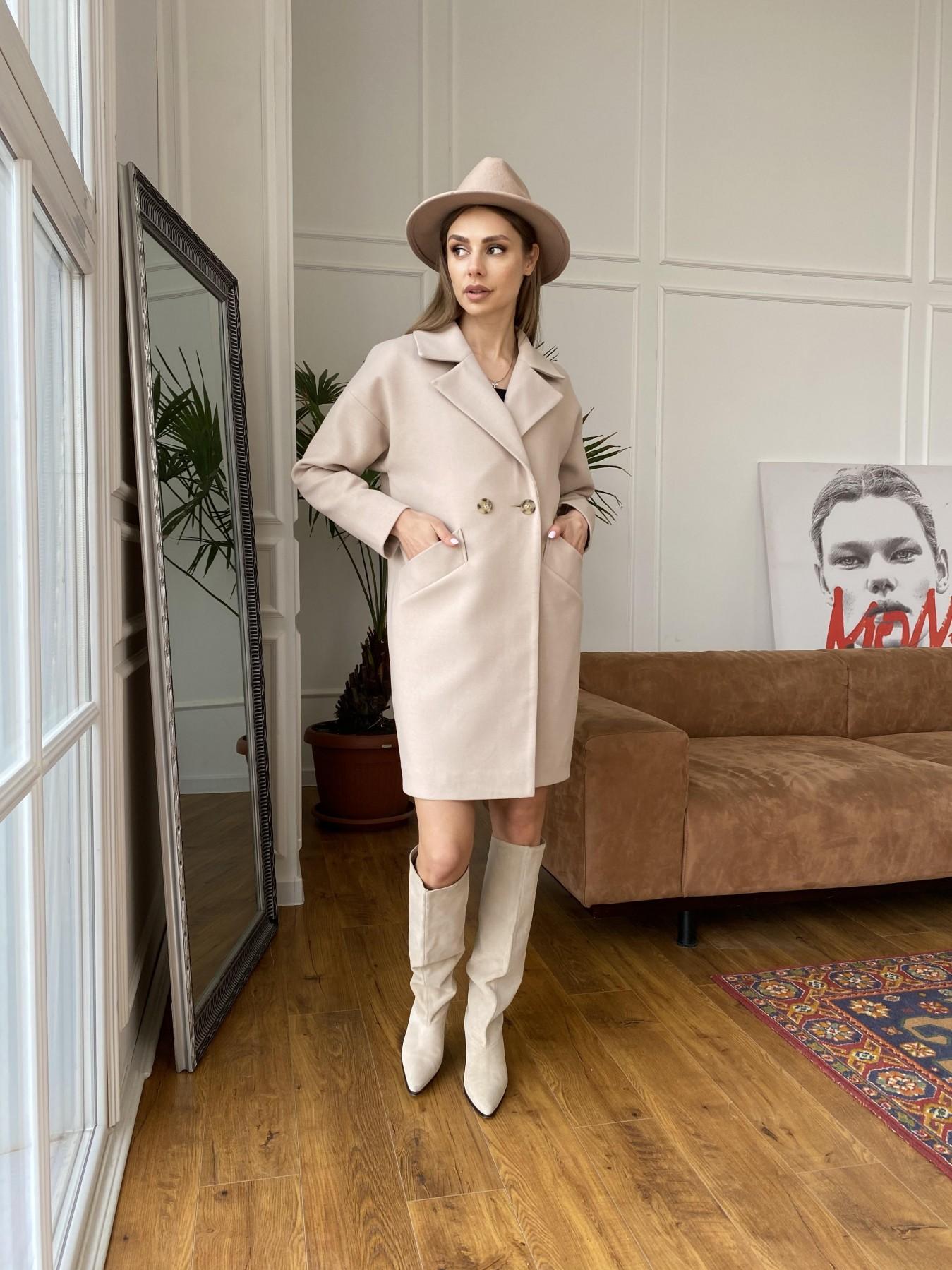 Сенсей пальто  из гладкого кашемира 10905 АРТ. 47373 Цвет: Бежевый - фото 2, интернет магазин tm-modus.ru
