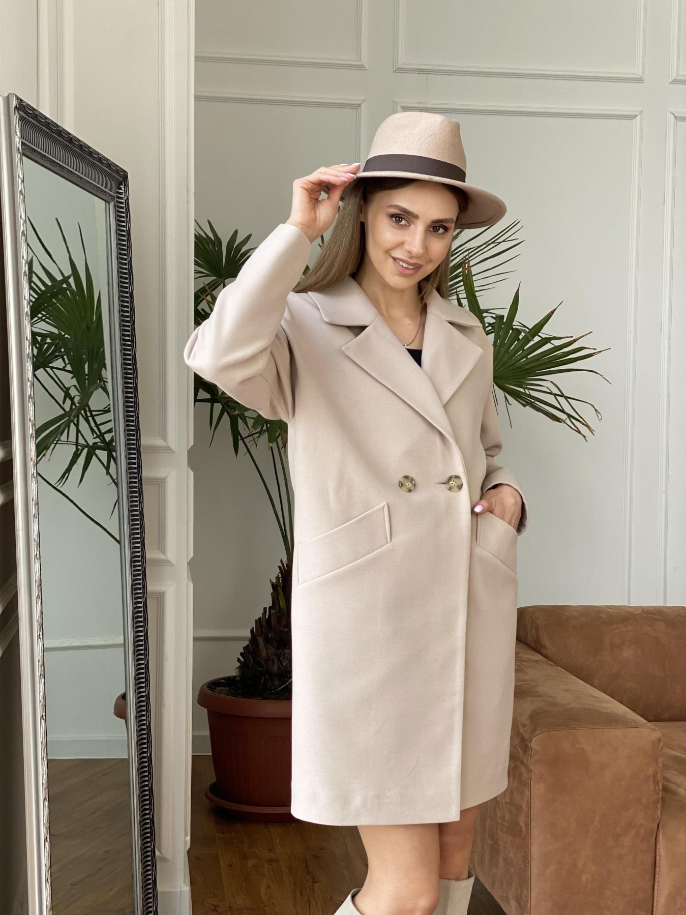 Сенсей пальто  из гладкого кашемира 10905 АРТ. 47373 Цвет: Бежевый - фото 4, интернет магазин tm-modus.ru