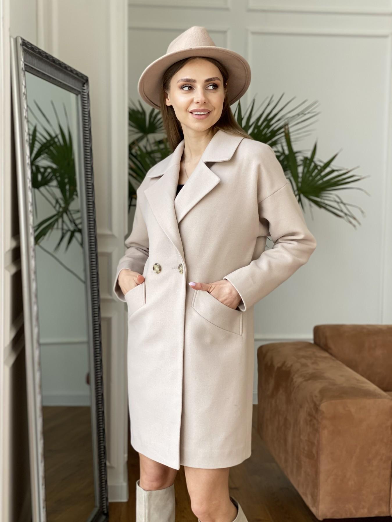 Сенсей пальто  из гладкого кашемира 10905 АРТ. 47373 Цвет: Бежевый - фото 5, интернет магазин tm-modus.ru