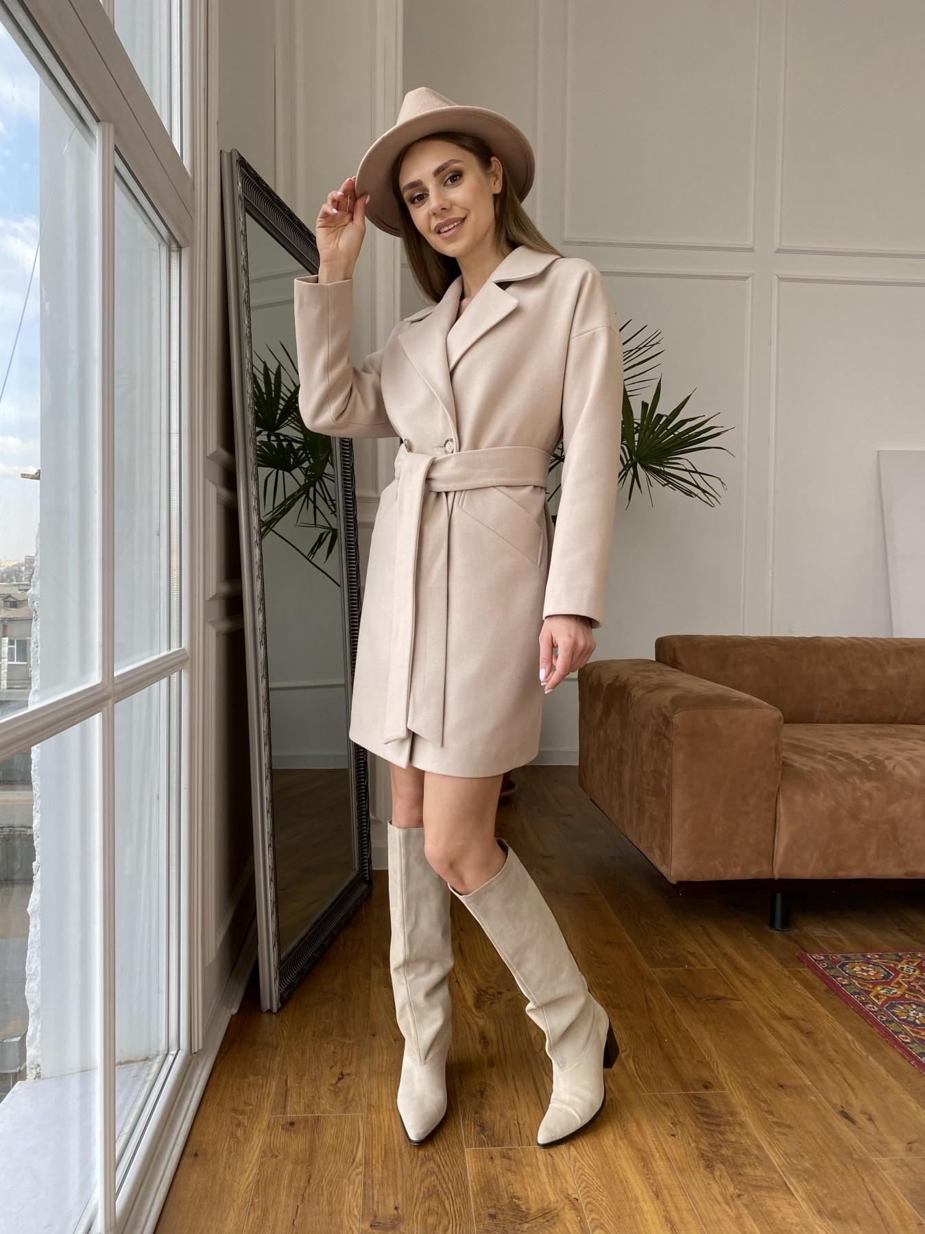 Сенсей пальто  из гладкого кашемира 10905 АРТ. 47373 Цвет: Бежевый - фото 6, интернет магазин tm-modus.ru