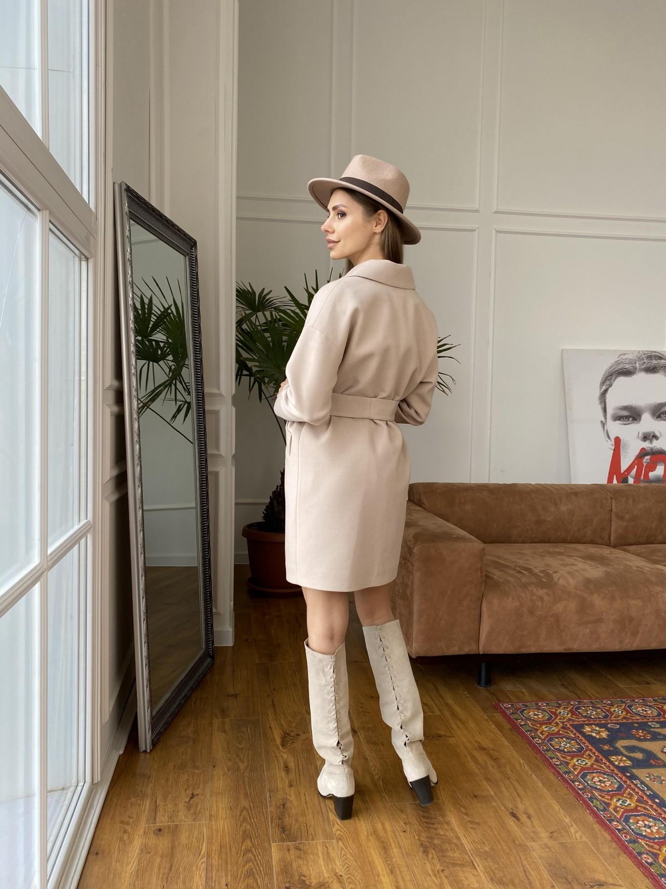 Сенсей пальто  из гладкого кашемира 10905 АРТ. 47373 Цвет: Бежевый - фото 7, интернет магазин tm-modus.ru