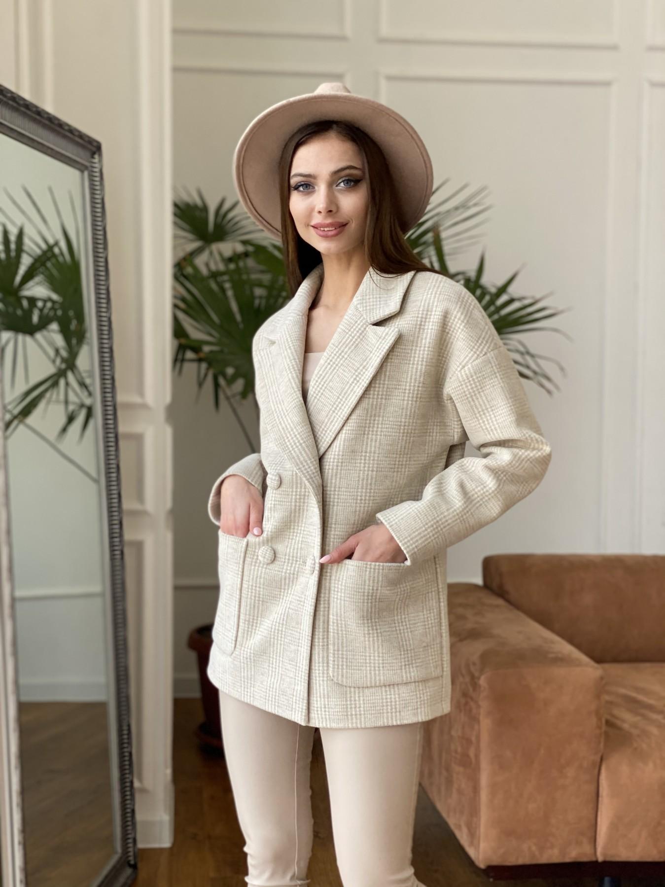 Демисезонного пальто оптом ТМ Modus Мансера пальто в клетку комби пальтовая ткань 11067