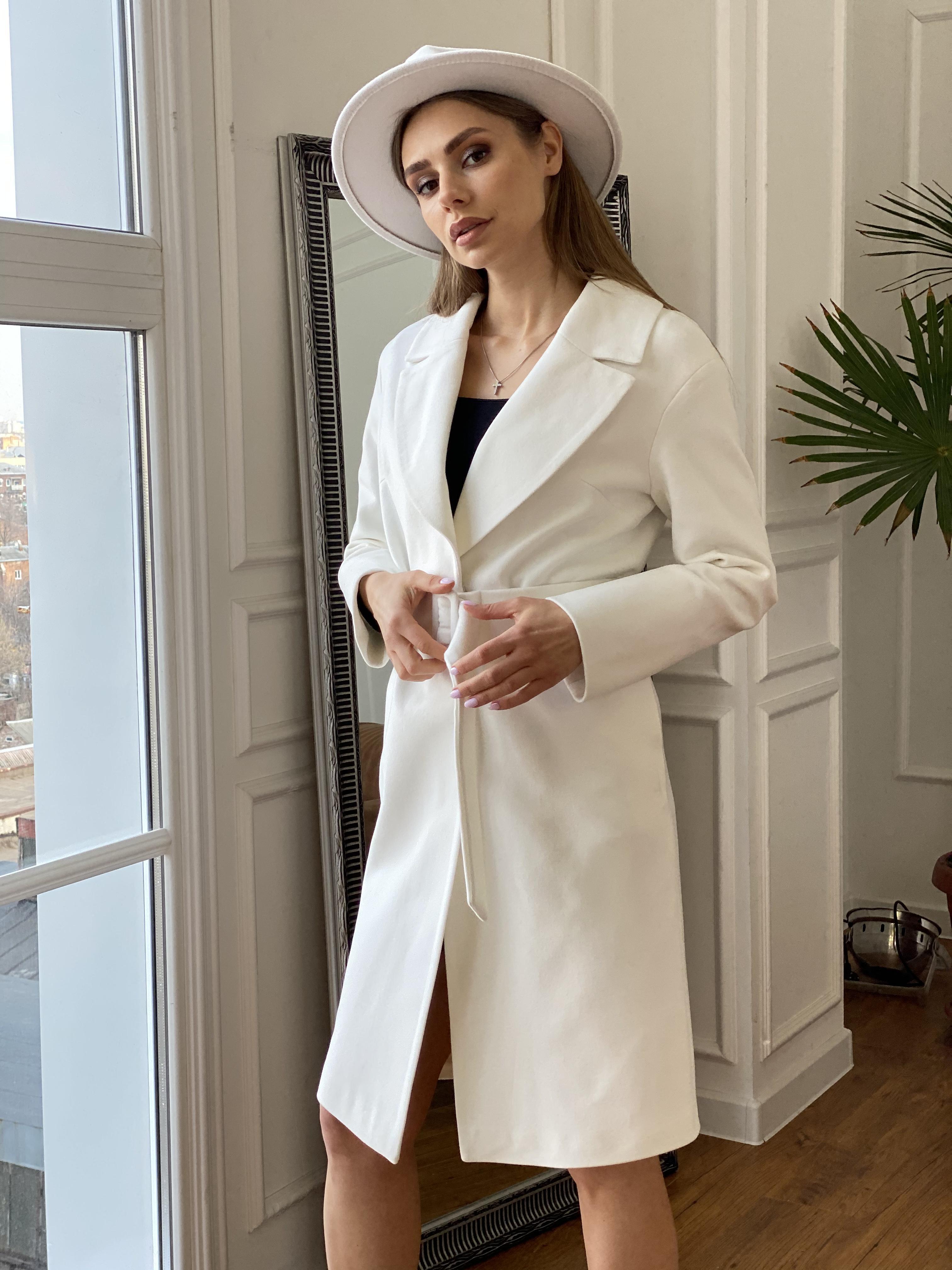 Севен пальто из гладкого кашемира 10621 АРТ. 46999 Цвет: Молоко - фото 1, интернет магазин tm-modus.ru