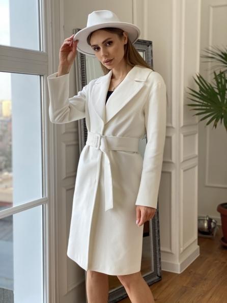 """Купить """"Севен"""" пальто из гладкого кашемира 10621 оптом и в розницу"""