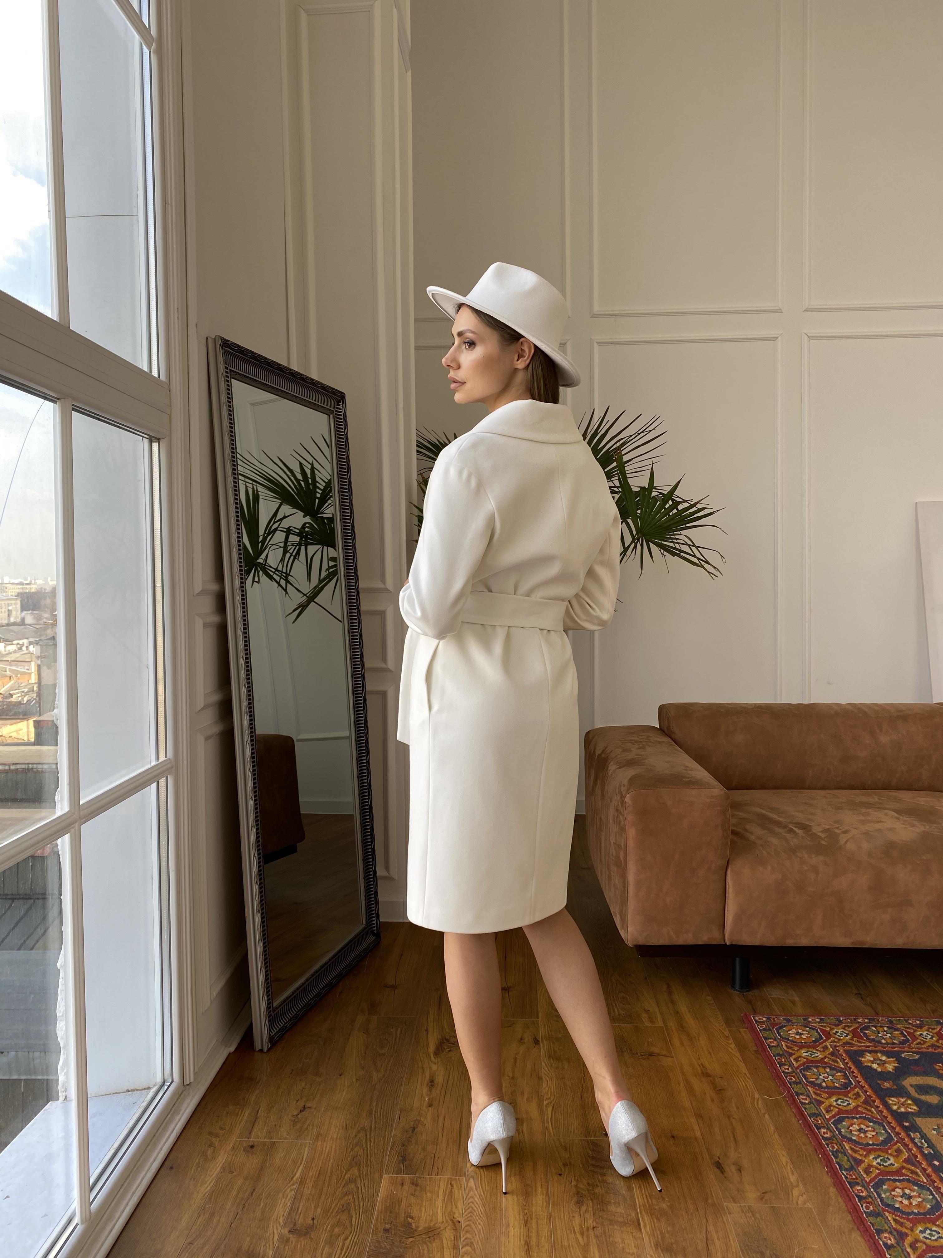 Севен пальто из гладкого кашемира 10621 АРТ. 46999 Цвет: Молоко - фото 5, интернет магазин tm-modus.ru