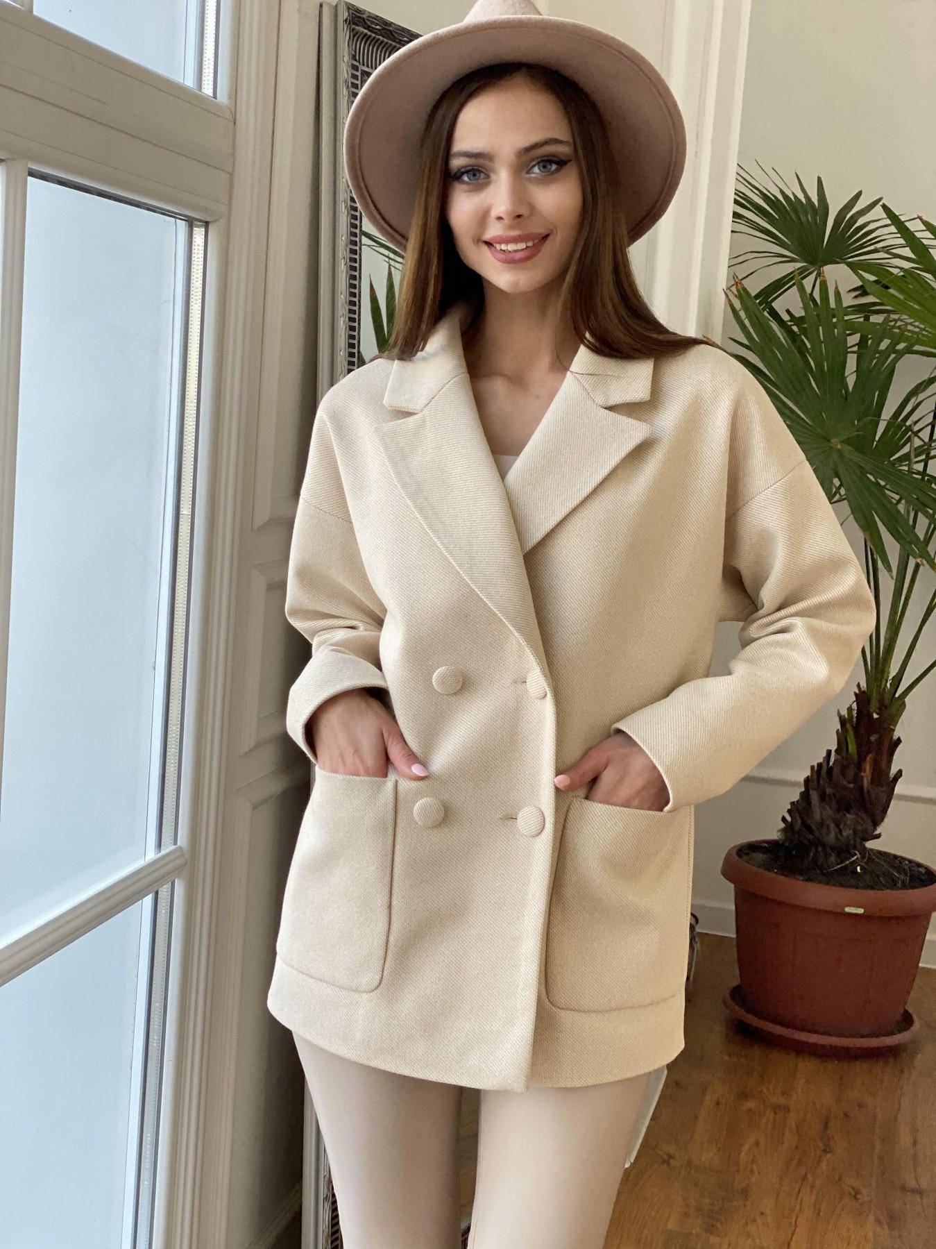 Мансера Флеш  пальто  11069 АРТ. 47560 Цвет: Бежевый мелкий - фото 1, интернет магазин tm-modus.ru