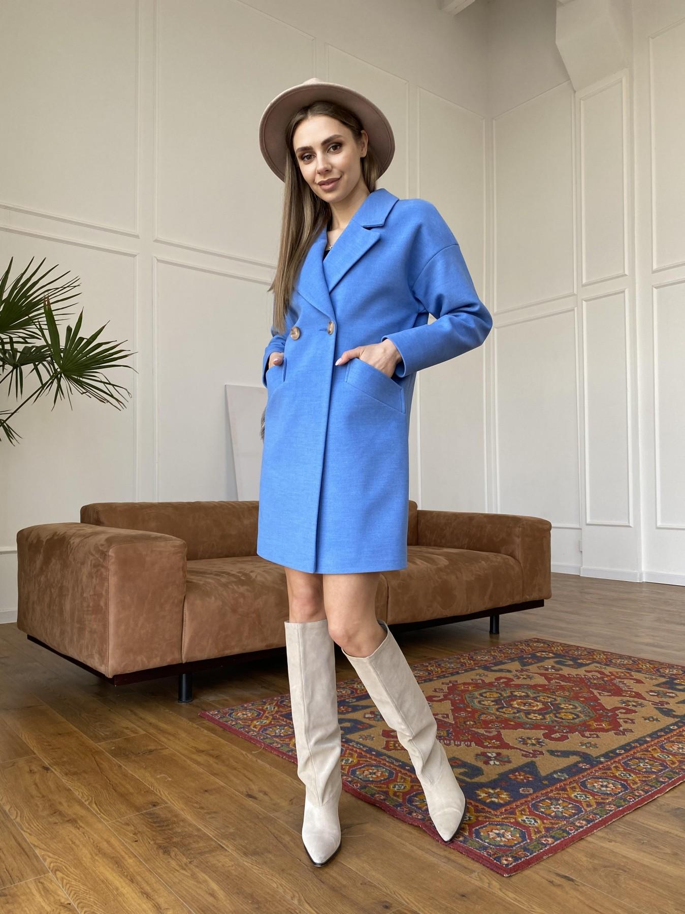 Сенсей пальто из кашемира 10572 АРТ. 47572 Цвет: Голубой - фото 1, интернет магазин tm-modus.ru