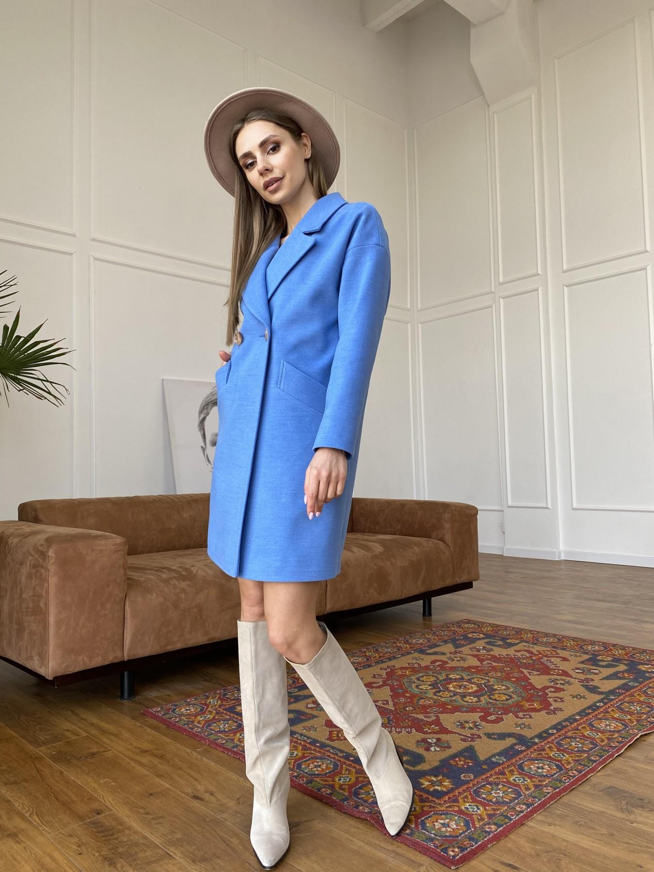 Сенсей пальто из кашемира 10572 АРТ. 47572 Цвет: Голубой - фото 2, интернет магазин tm-modus.ru
