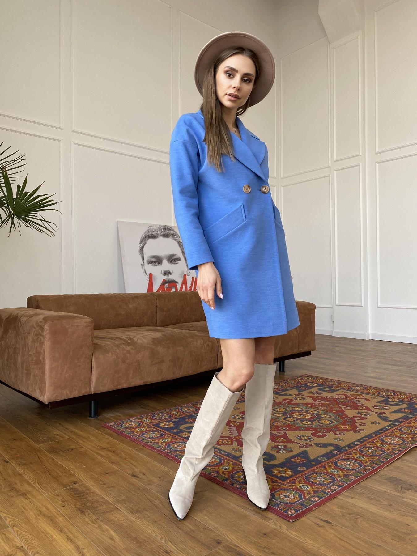 Сенсей пальто из кашемира 10572 АРТ. 47572 Цвет: Голубой - фото 3, интернет магазин tm-modus.ru