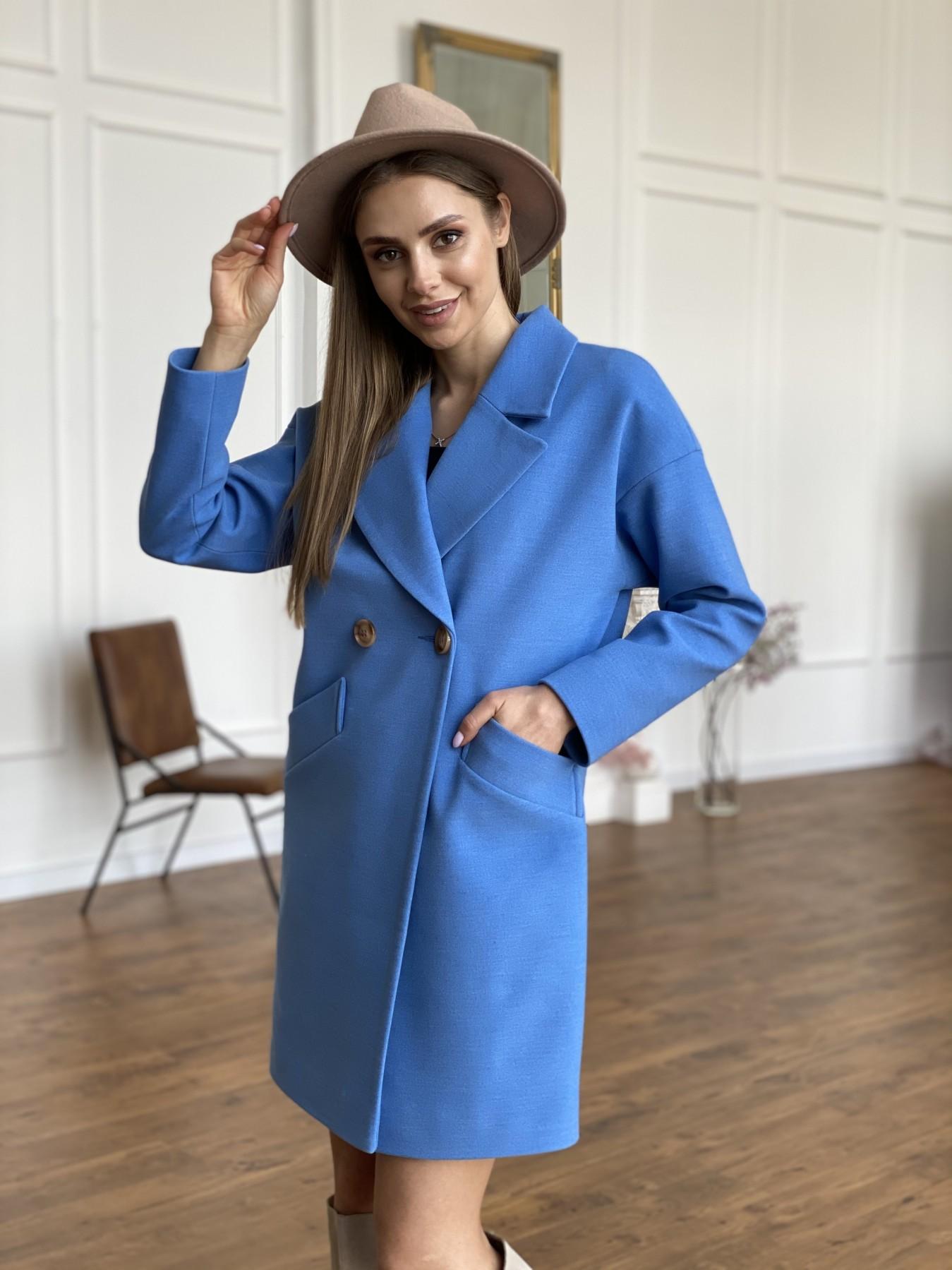 Сенсей пальто из кашемира 10572 АРТ. 47572 Цвет: Голубой - фото 6, интернет магазин tm-modus.ru