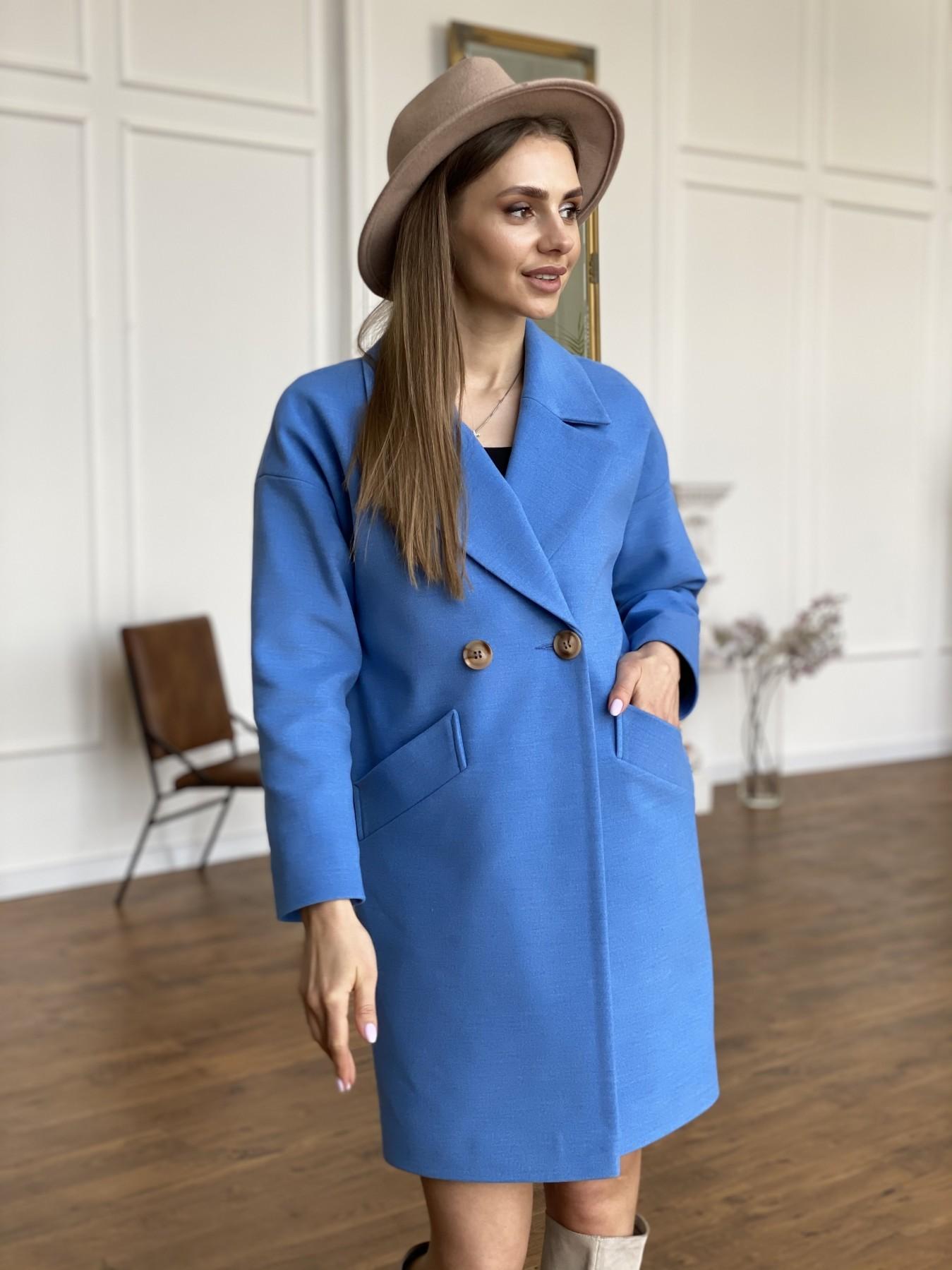 Сенсей пальто из кашемира 10572 АРТ. 47572 Цвет: Голубой - фото 7, интернет магазин tm-modus.ru