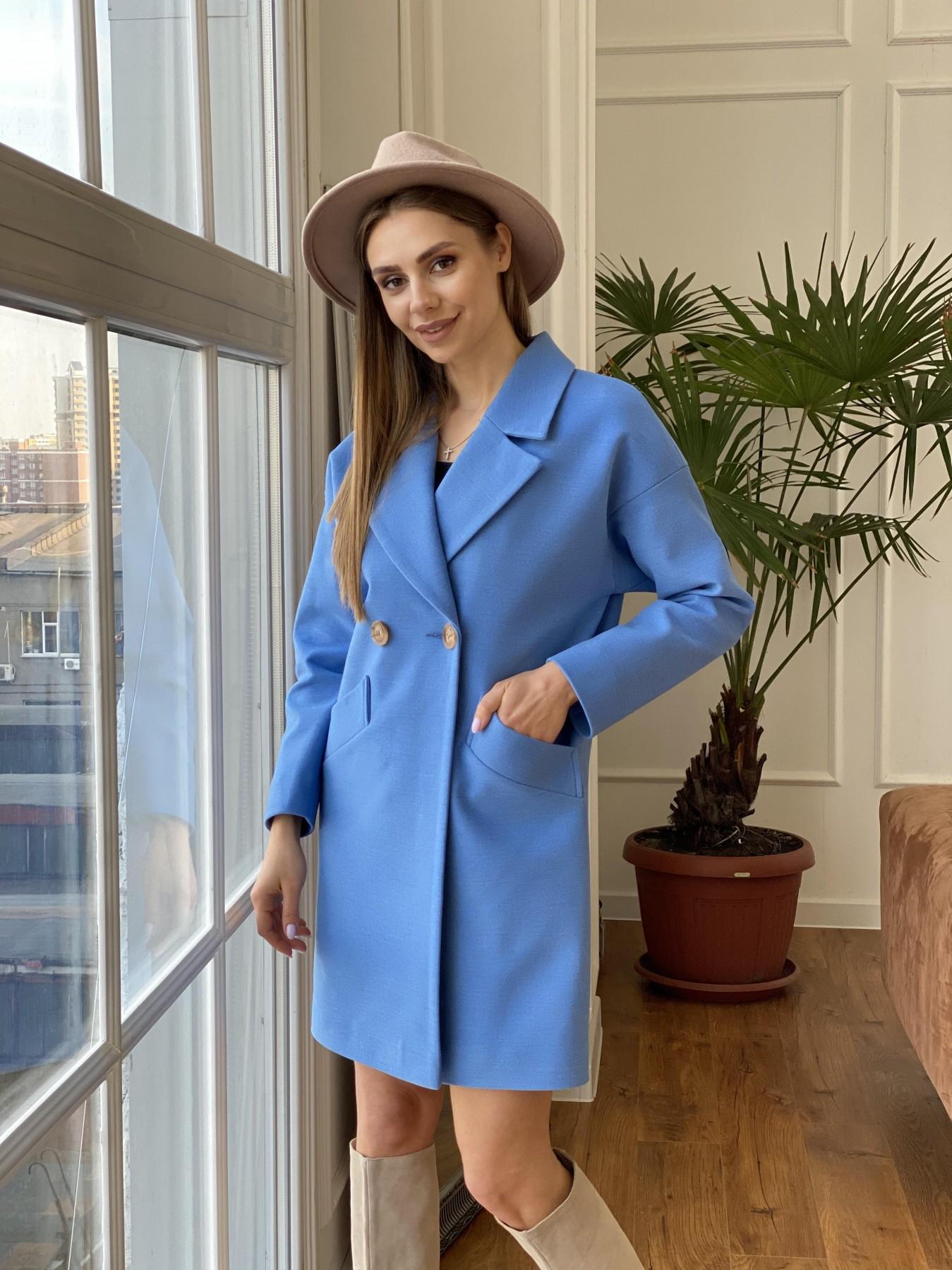 Сенсей пальто из кашемира 10572 АРТ. 47572 Цвет: Голубой - фото 8, интернет магазин tm-modus.ru