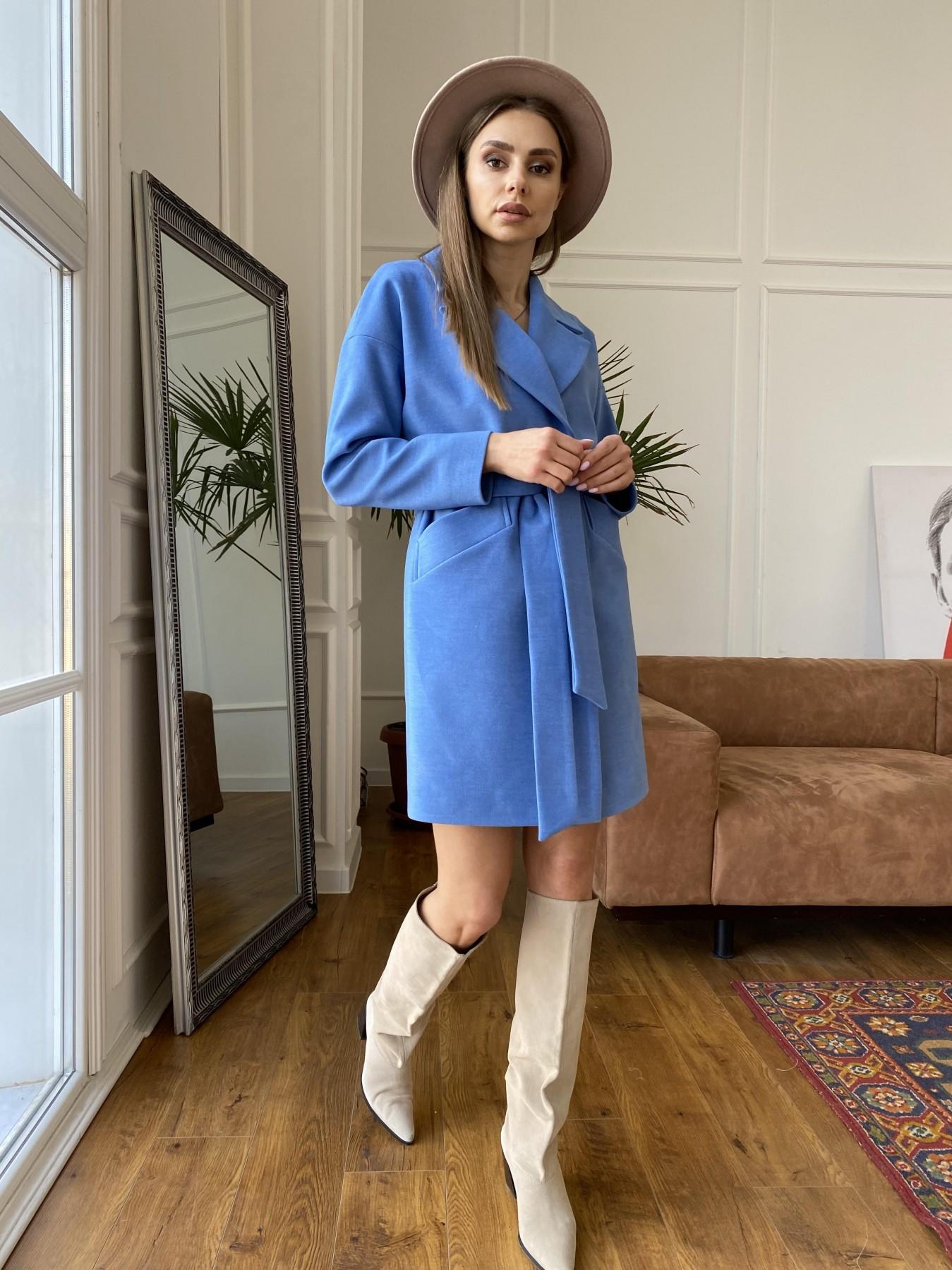 Сенсей пальто из кашемира 10572 АРТ. 47572 Цвет: Голубой - фото 9, интернет магазин tm-modus.ru