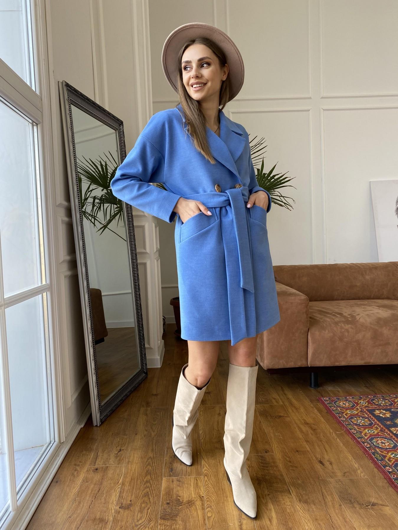 Сенсей пальто из кашемира 10572 АРТ. 47572 Цвет: Голубой - фото 10, интернет магазин tm-modus.ru