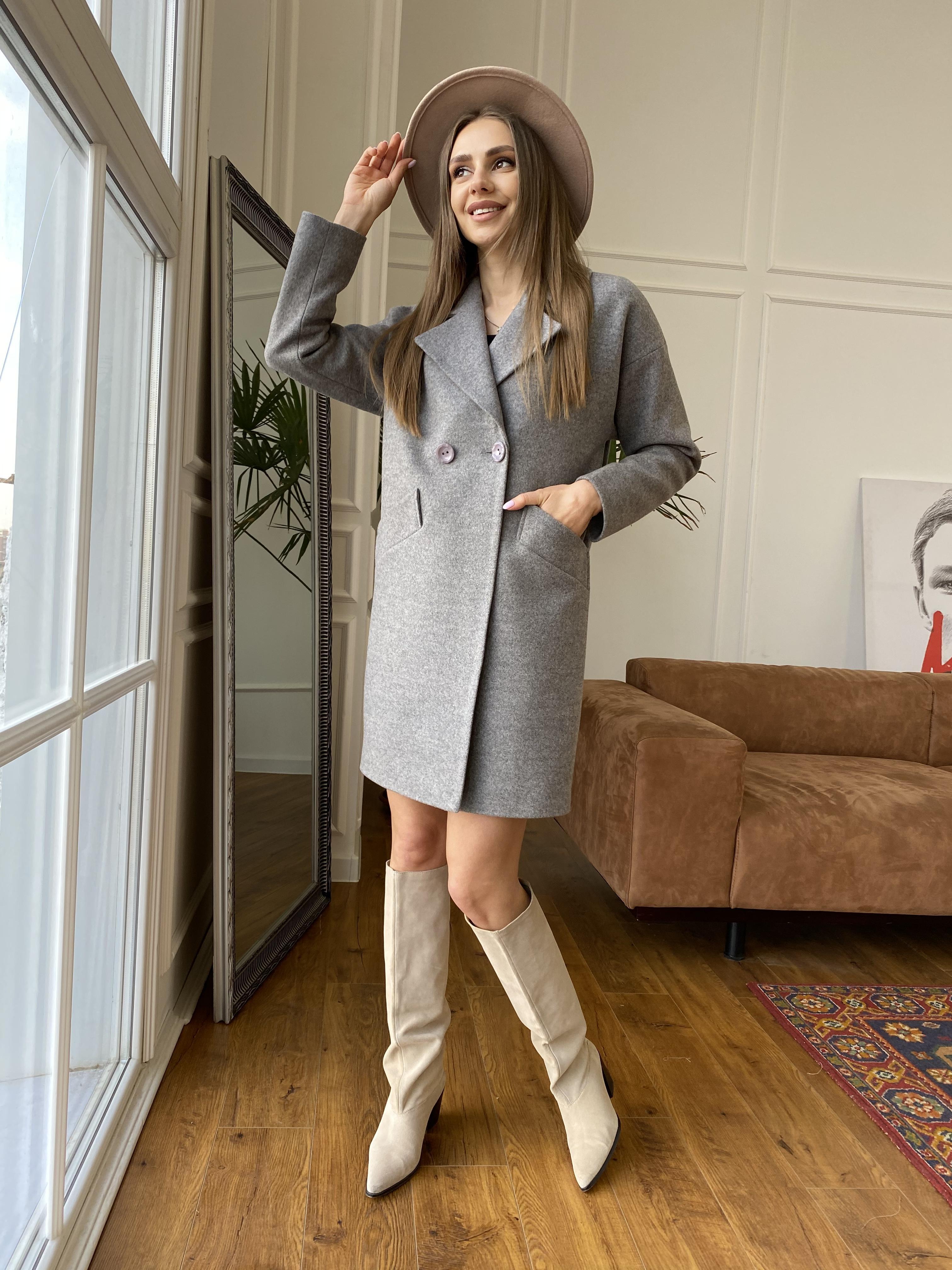 Сенсей пальто из кашемира меланж  10745 АРТ. 47224 Цвет: Карамель 20/1 - фото 1, интернет магазин tm-modus.ru