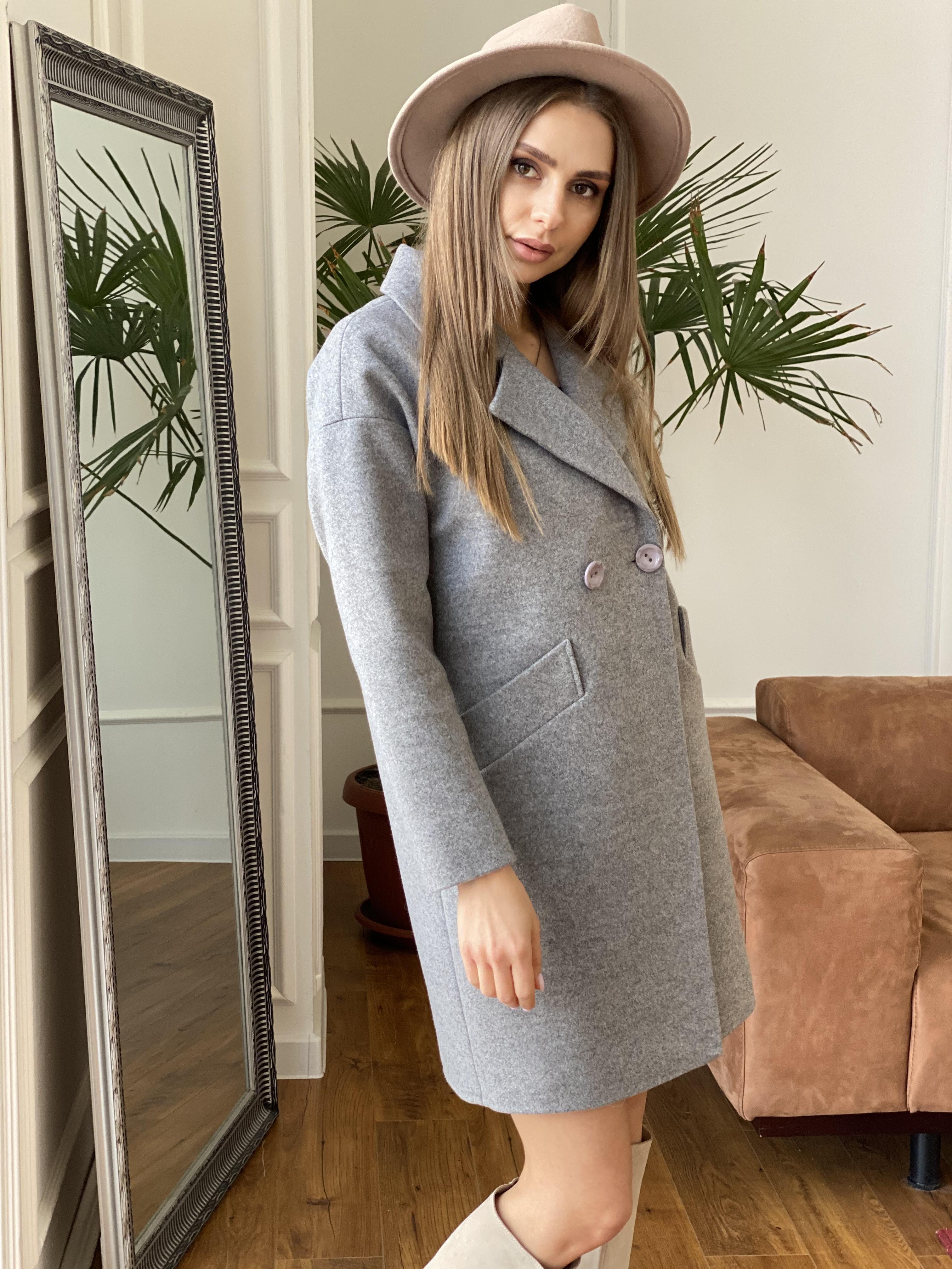 Сенсей пальто из кашемира меланж  10745 АРТ. 47224 Цвет: Карамель 20/1 - фото 2, интернет магазин tm-modus.ru