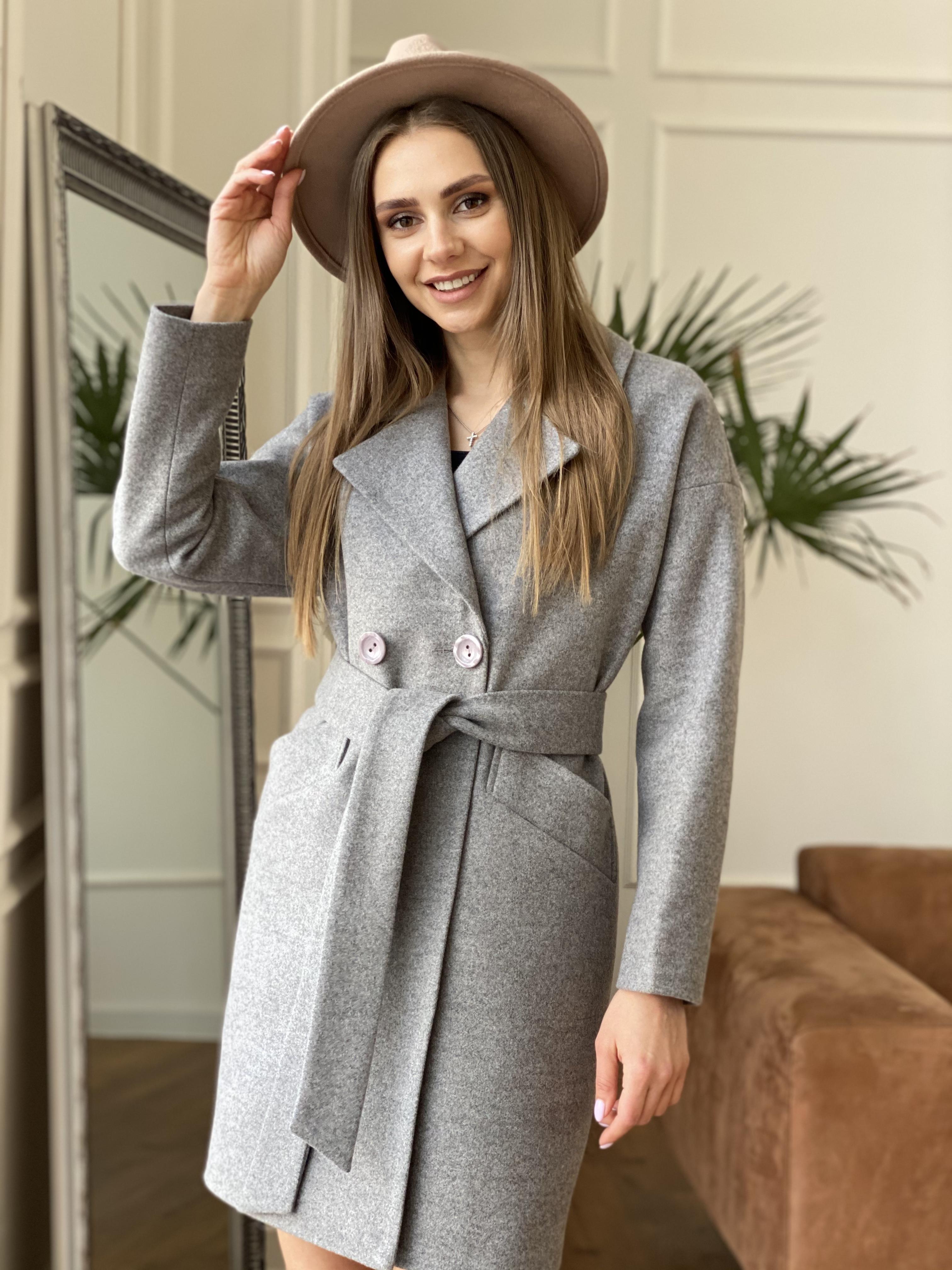 Демисезонное пальто от производителя Modus Сенсей пальто из кашемира меланж  10745