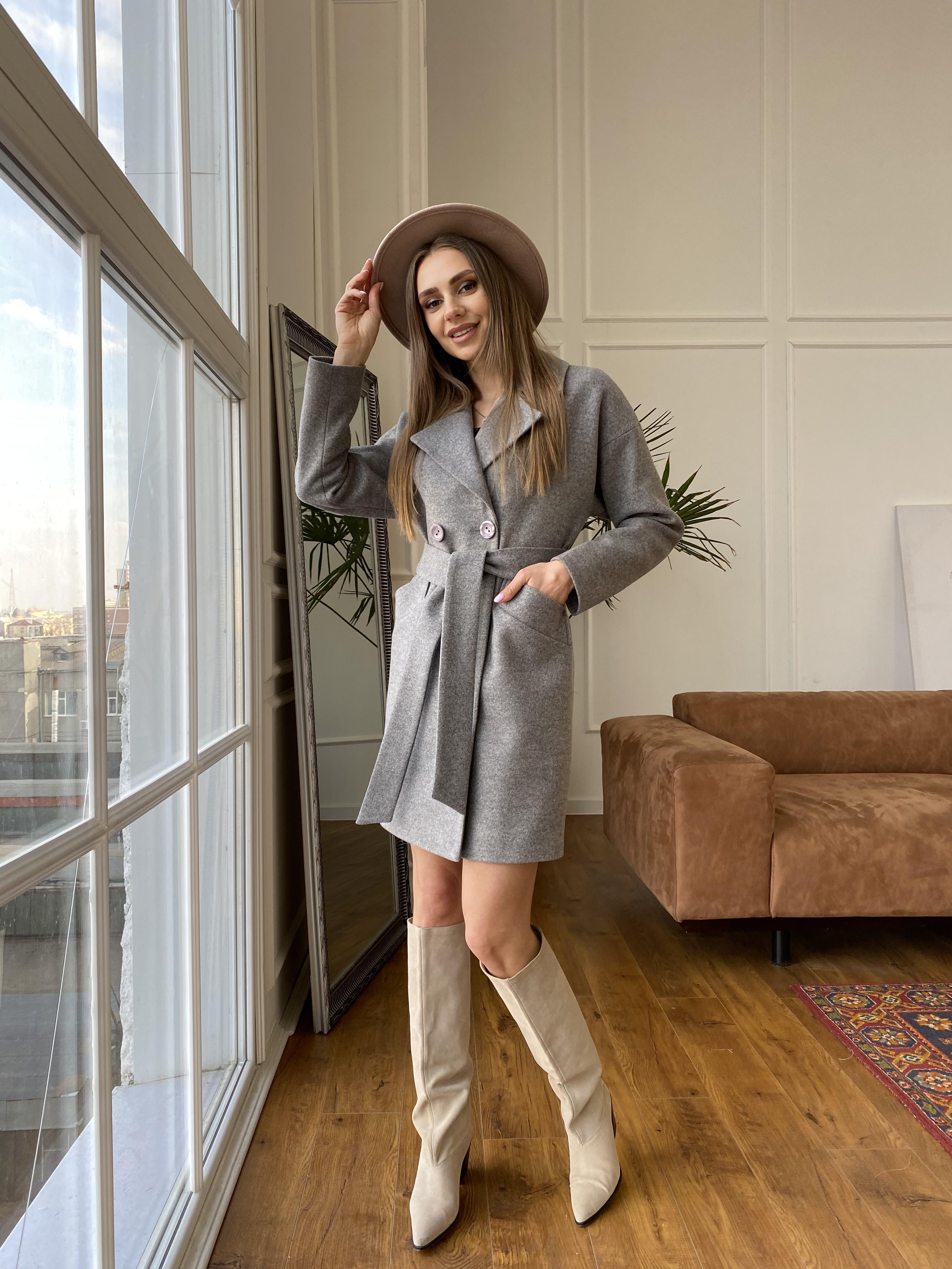 Сенсей пальто из кашемира меланж  10745 АРТ. 47224 Цвет: Карамель 20/1 - фото 8, интернет магазин tm-modus.ru