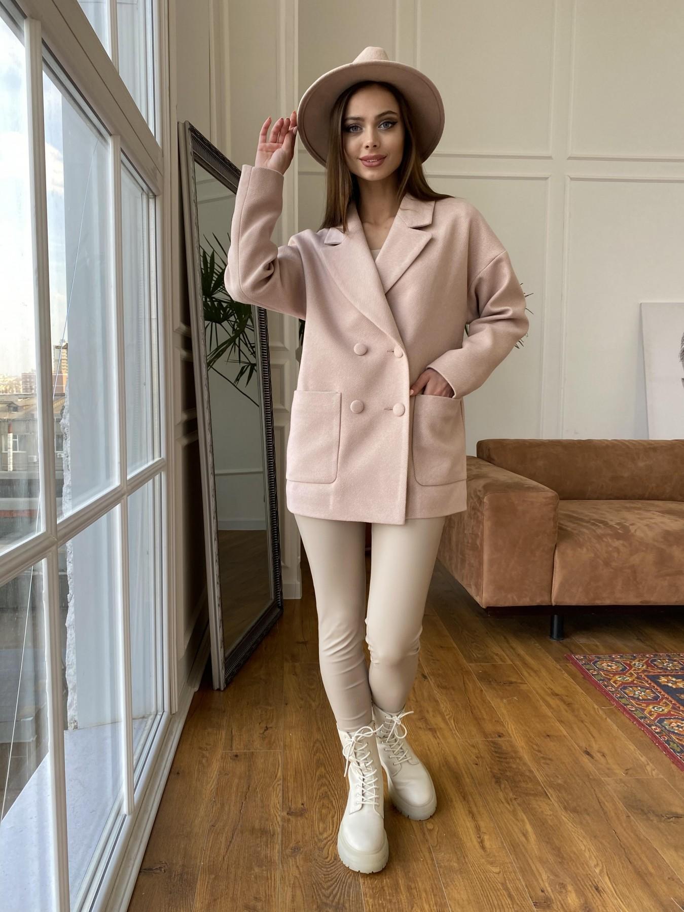 Мансера  пальто диагональ  10855 АРТ. 47358 Цвет: Пудра 11 - фото 1, интернет магазин tm-modus.ru