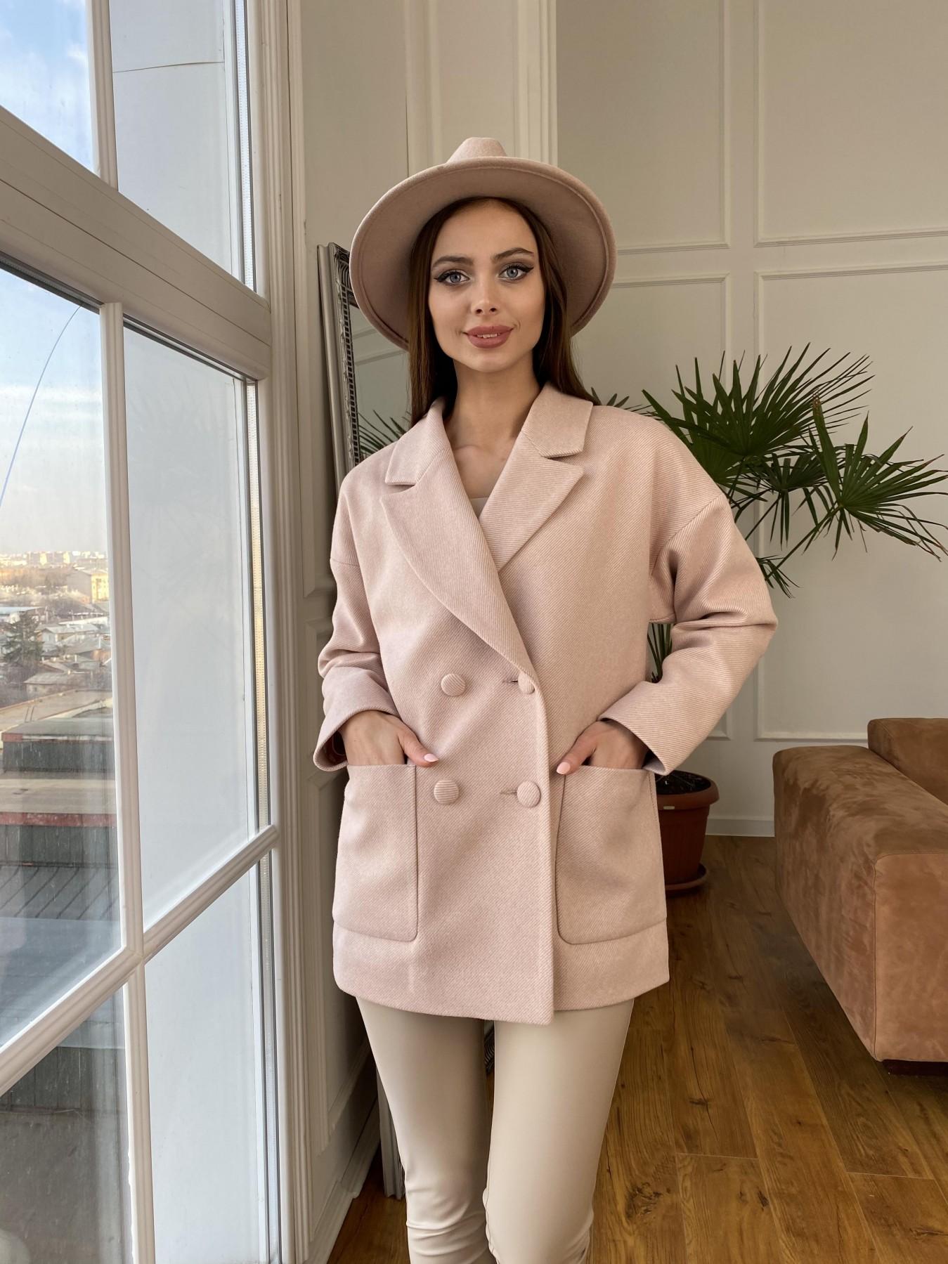 Мансера  пальто диагональ  10855 АРТ. 47358 Цвет: Пудра 11 - фото 5, интернет магазин tm-modus.ru