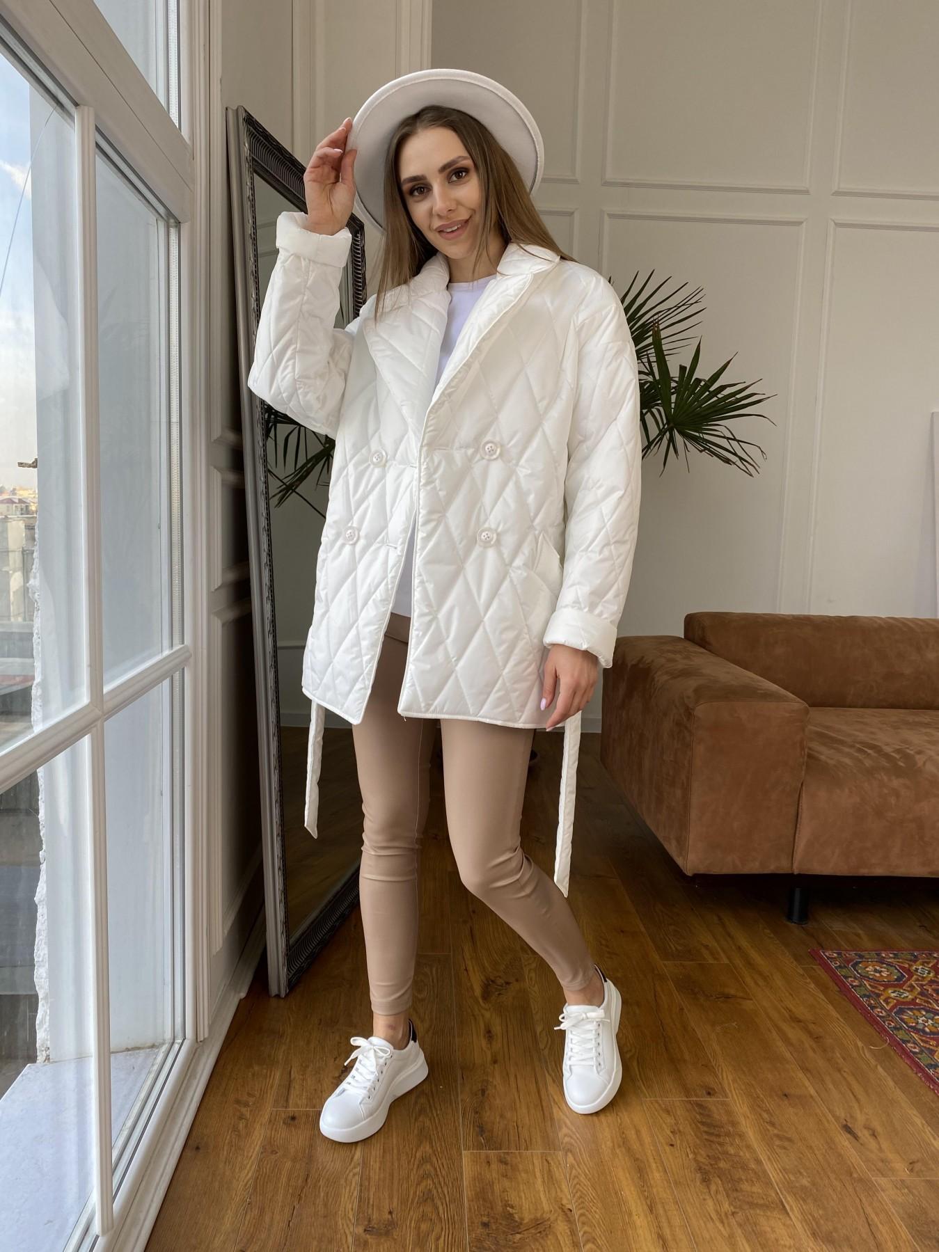Норд куртка из плащевой ткани стеганая 10883 АРТ. 47423 Цвет: Молоко - фото 1, интернет магазин tm-modus.ru