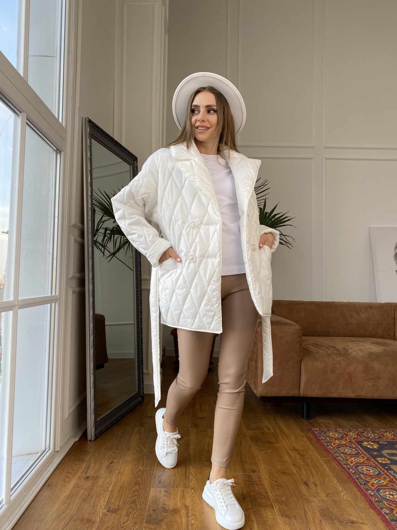 Норд куртка из плащевой ткани стеганая 10883 АРТ. 47423 Цвет: Молоко - фото 2, интернет магазин tm-modus.ru