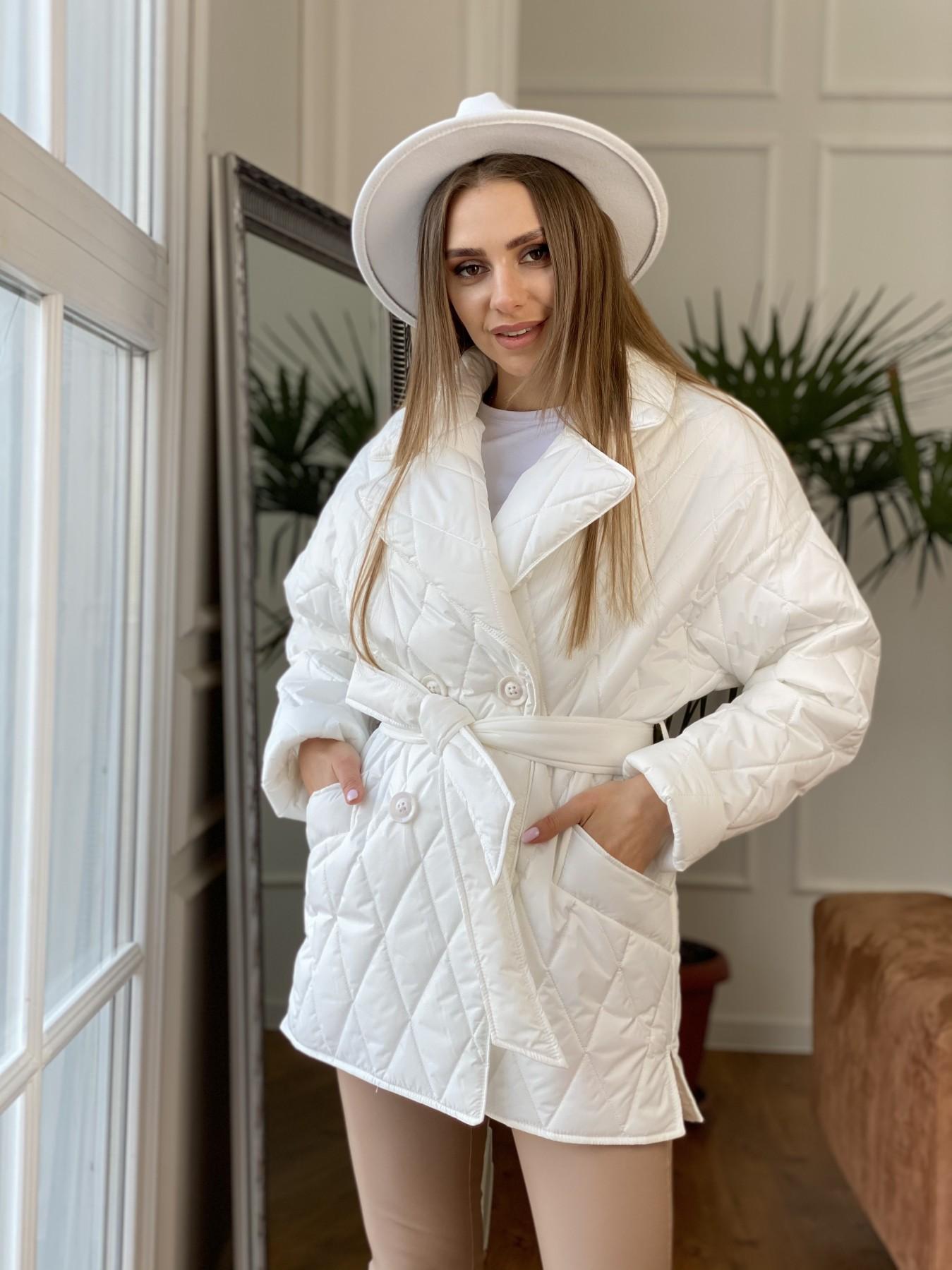 Норд куртка из плащевой ткани стеганая 10883 АРТ. 47423 Цвет: Молоко - фото 3, интернет магазин tm-modus.ru