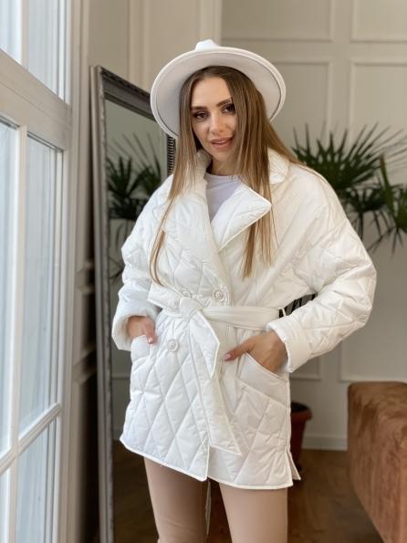Норд куртка из плащевой ткани стеганая 10883 Цвет: Молоко