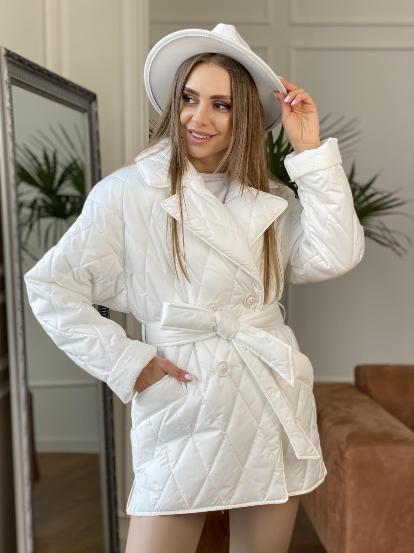 Норд куртка из плащевой ткани стеганая 10883 АРТ. 47423 Цвет: Молоко - фото 4, интернет магазин tm-modus.ru