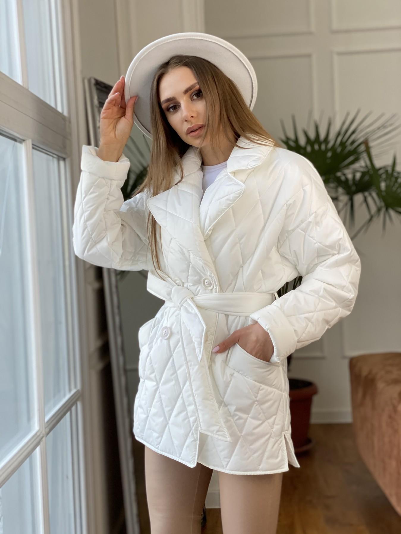 Норд куртка из плащевой ткани стеганая 10883 АРТ. 47423 Цвет: Молоко - фото 6, интернет магазин tm-modus.ru