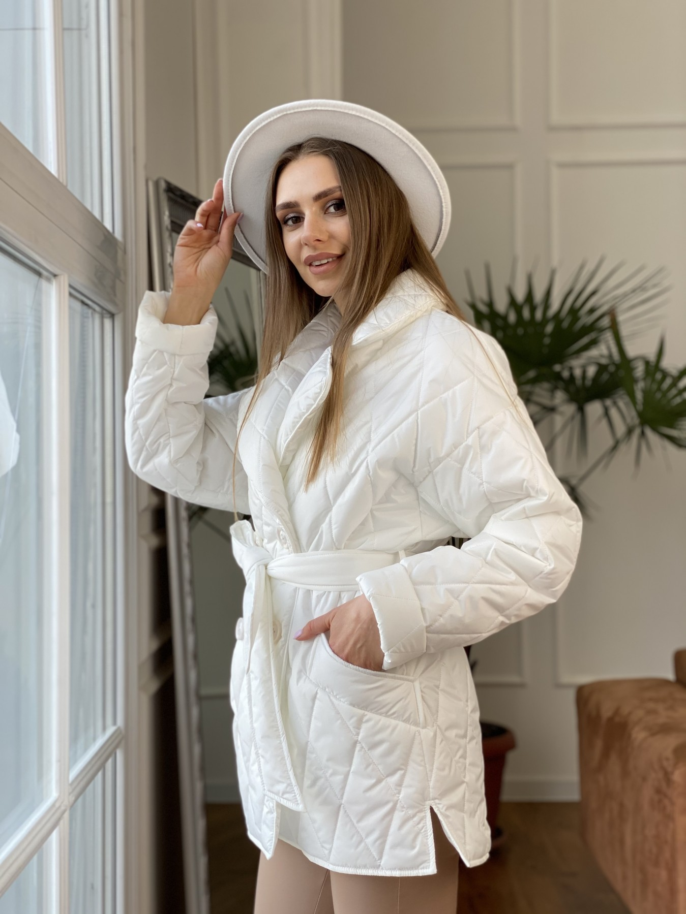 Норд куртка из плащевой ткани стеганая 10883 АРТ. 47423 Цвет: Молоко - фото 7, интернет магазин tm-modus.ru