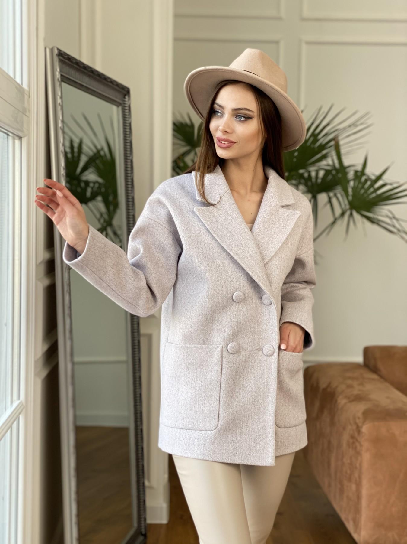 Мансера пальто кашемир меланж на трикотаже  10629 АРТ. 47554 Цвет: Серо-розовый 21 - фото 1, интернет магазин tm-modus.ru