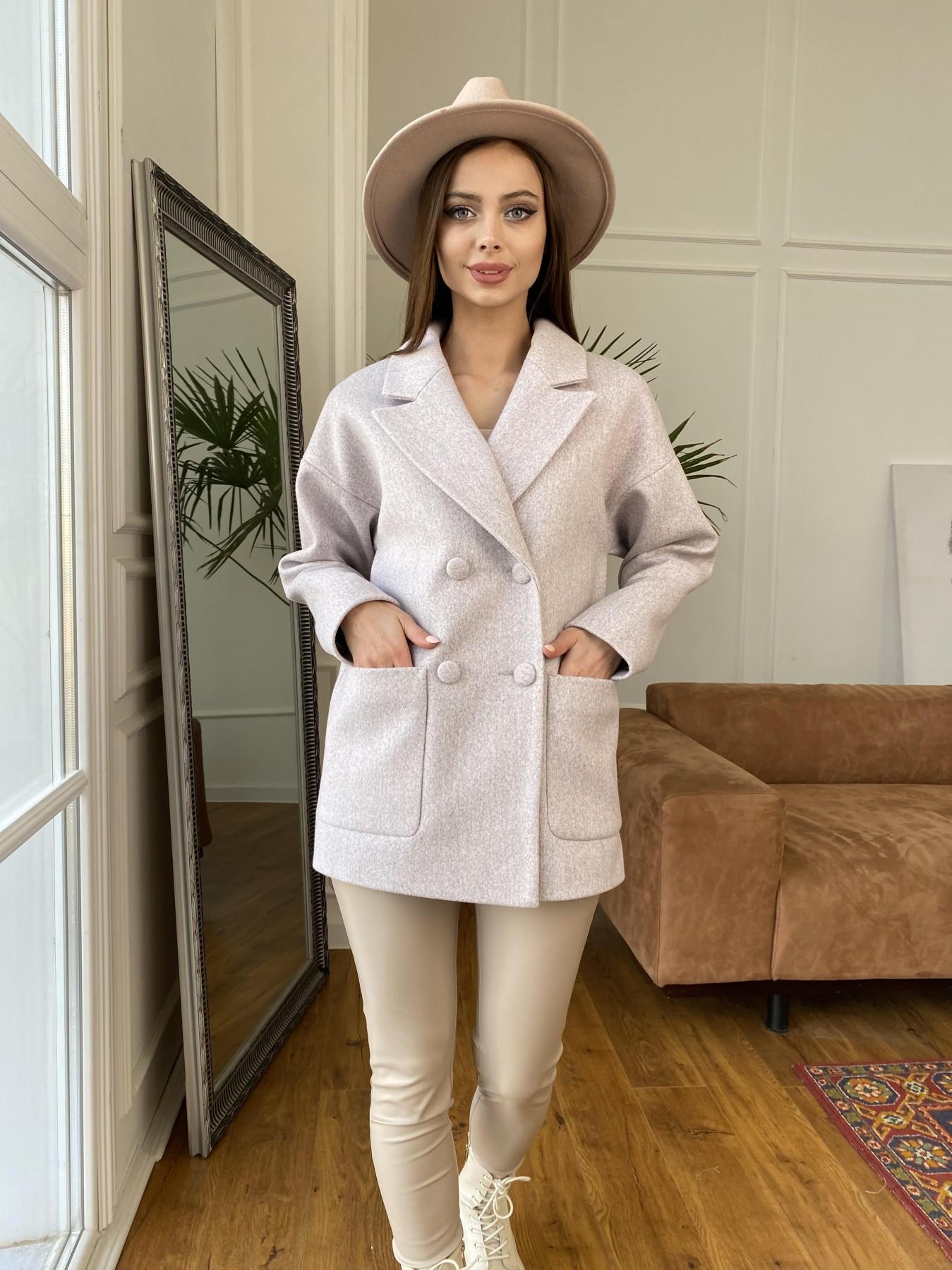 Мансера пальто кашемир меланж на трикотаже  10629 АРТ. 47554 Цвет: Серо-розовый 21 - фото 2, интернет магазин tm-modus.ru