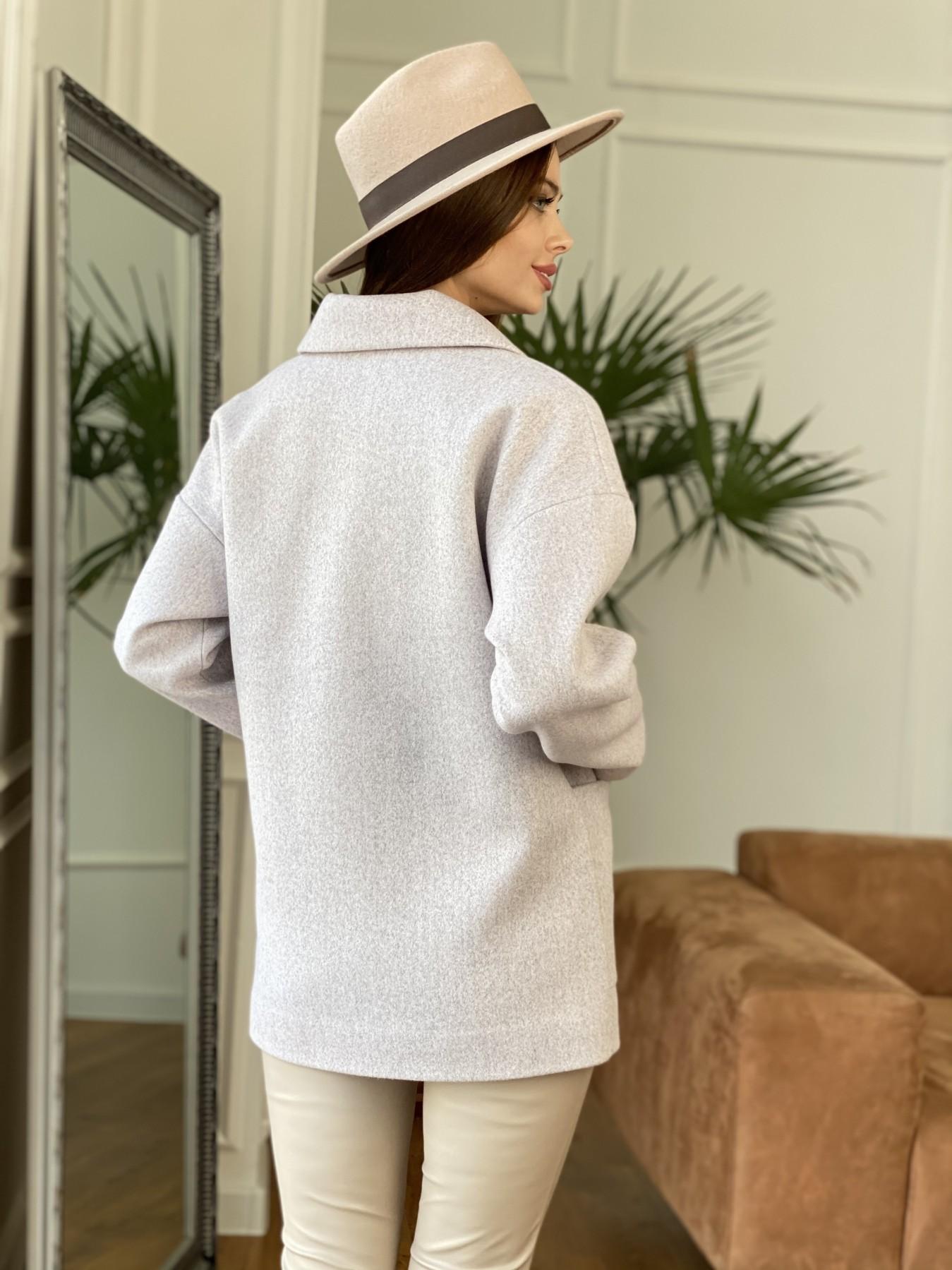 Мансера пальто кашемир меланж на трикотаже  10629 АРТ. 47554 Цвет: Серо-розовый 21 - фото 3, интернет магазин tm-modus.ru