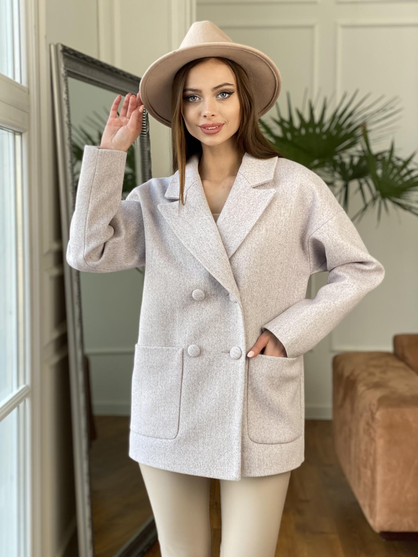Демисезонное пальто купить Мансера пальто кашемир меланж на трикотаже  10629