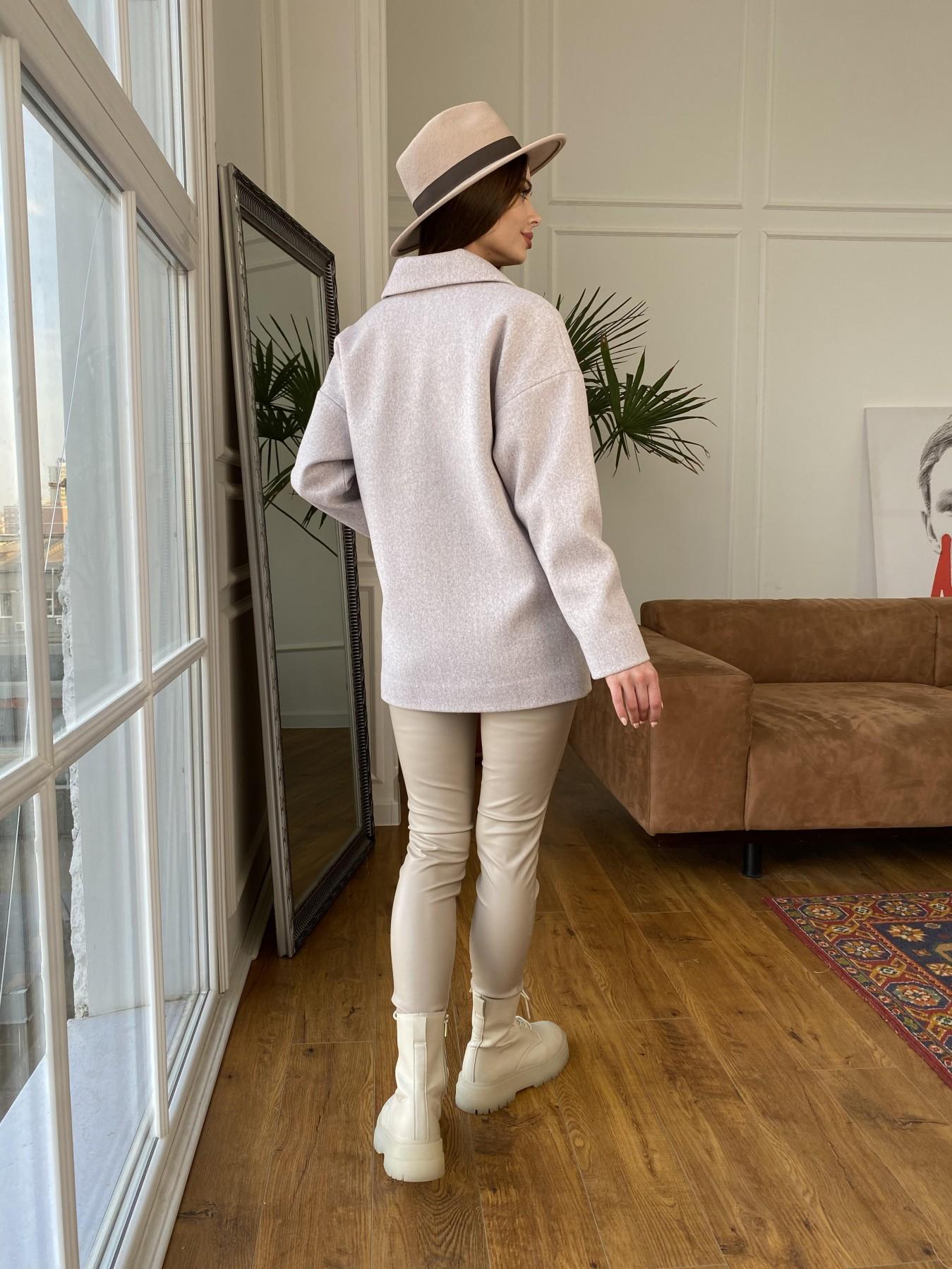 Мансера пальто кашемир меланж на трикотаже  10629 АРТ. 47554 Цвет: Серо-розовый 21 - фото 5, интернет магазин tm-modus.ru