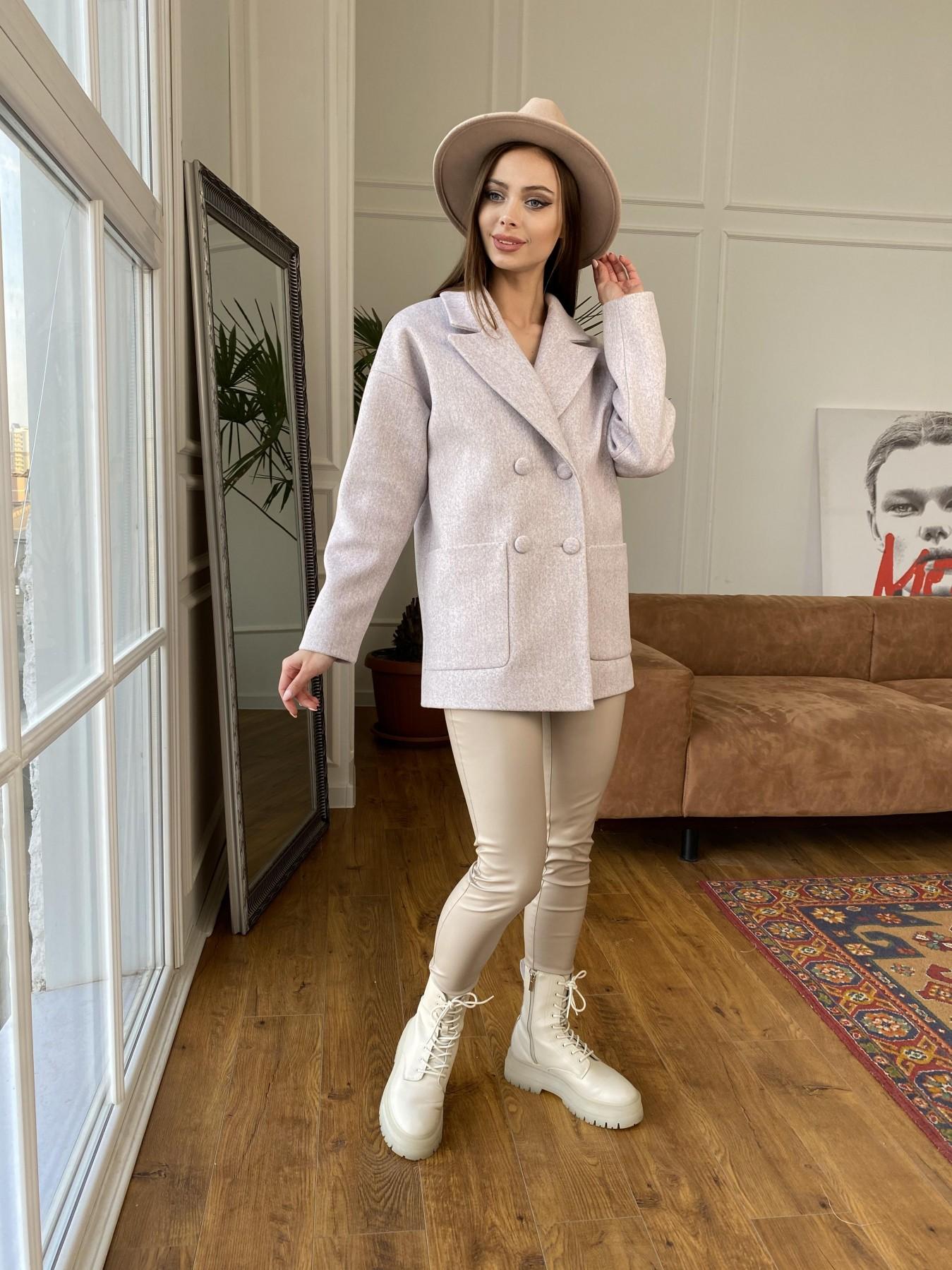 Мансера пальто кашемир меланж на трикотаже  10629 АРТ. 47554 Цвет: Серо-розовый 21 - фото 6, интернет магазин tm-modus.ru