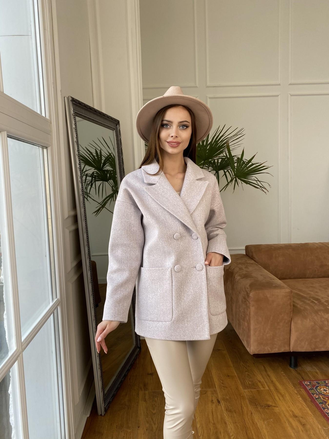 Мансера пальто кашемир меланж на трикотаже  10629 АРТ. 47554 Цвет: Серо-розовый 21 - фото 7, интернет магазин tm-modus.ru