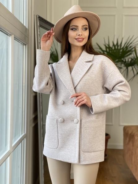 """Купить """"Мансера"""" пальто кашемир меланж на трикотаже  10629 оптом и в розницу"""
