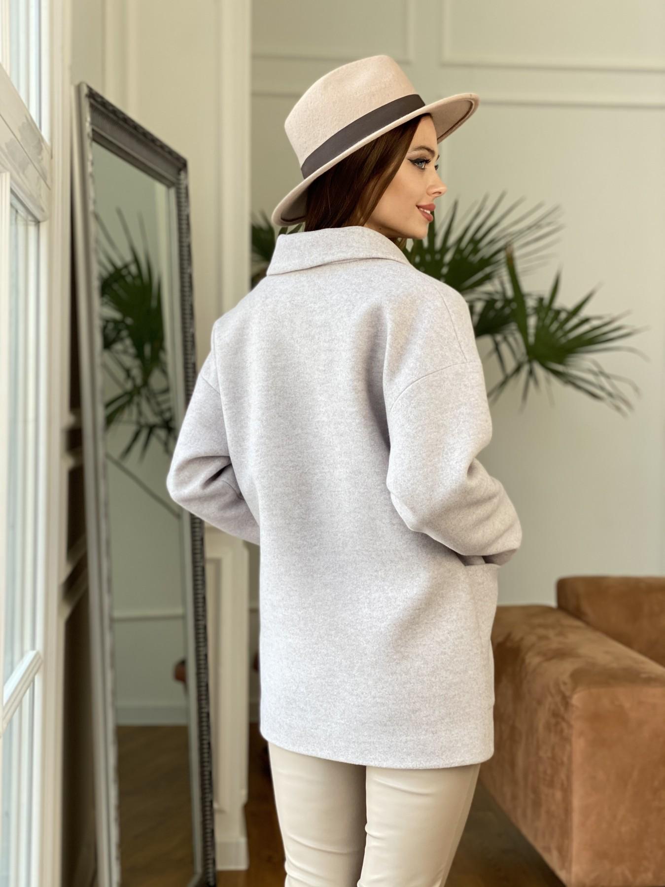 Мансера пальто кашемир меланж на трикотаже  10629 АРТ. 47553 Цвет: Бежевый меланж - фото 6, интернет магазин tm-modus.ru