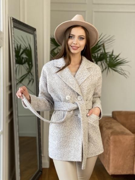 """Купить """"Бонд"""" пальто из шерсти букле  10770 оптом и в розницу"""