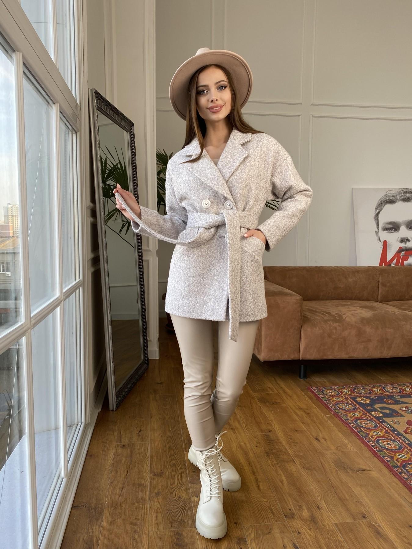 Бонд пальто из шерсти букле  10770 АРТ. 47496 Цвет: Серо-бежевый - фото 6, интернет магазин tm-modus.ru