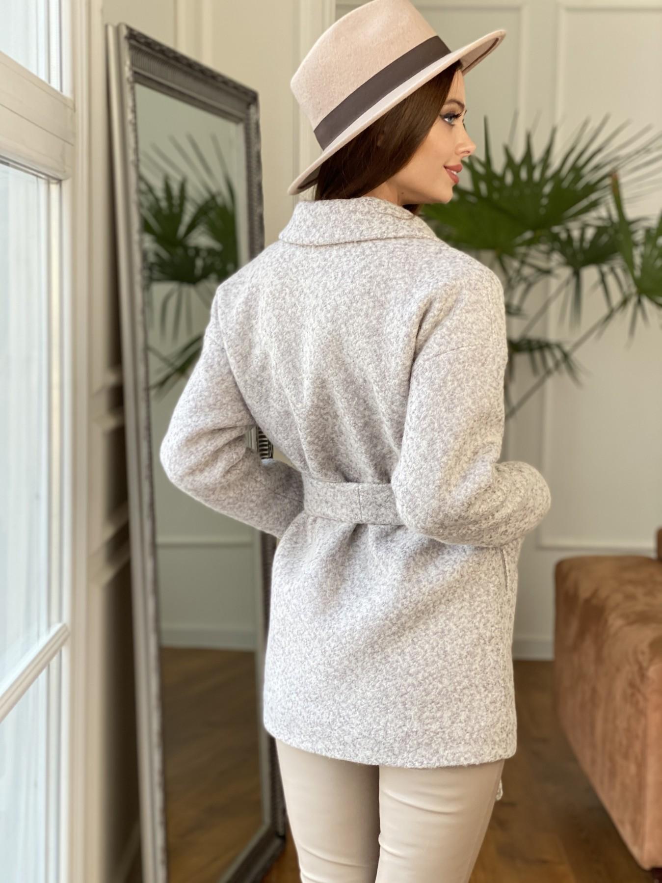 Бонд пальто из шерсти букле  10770 АРТ. 47496 Цвет: Серо-бежевый - фото 7, интернет магазин tm-modus.ru