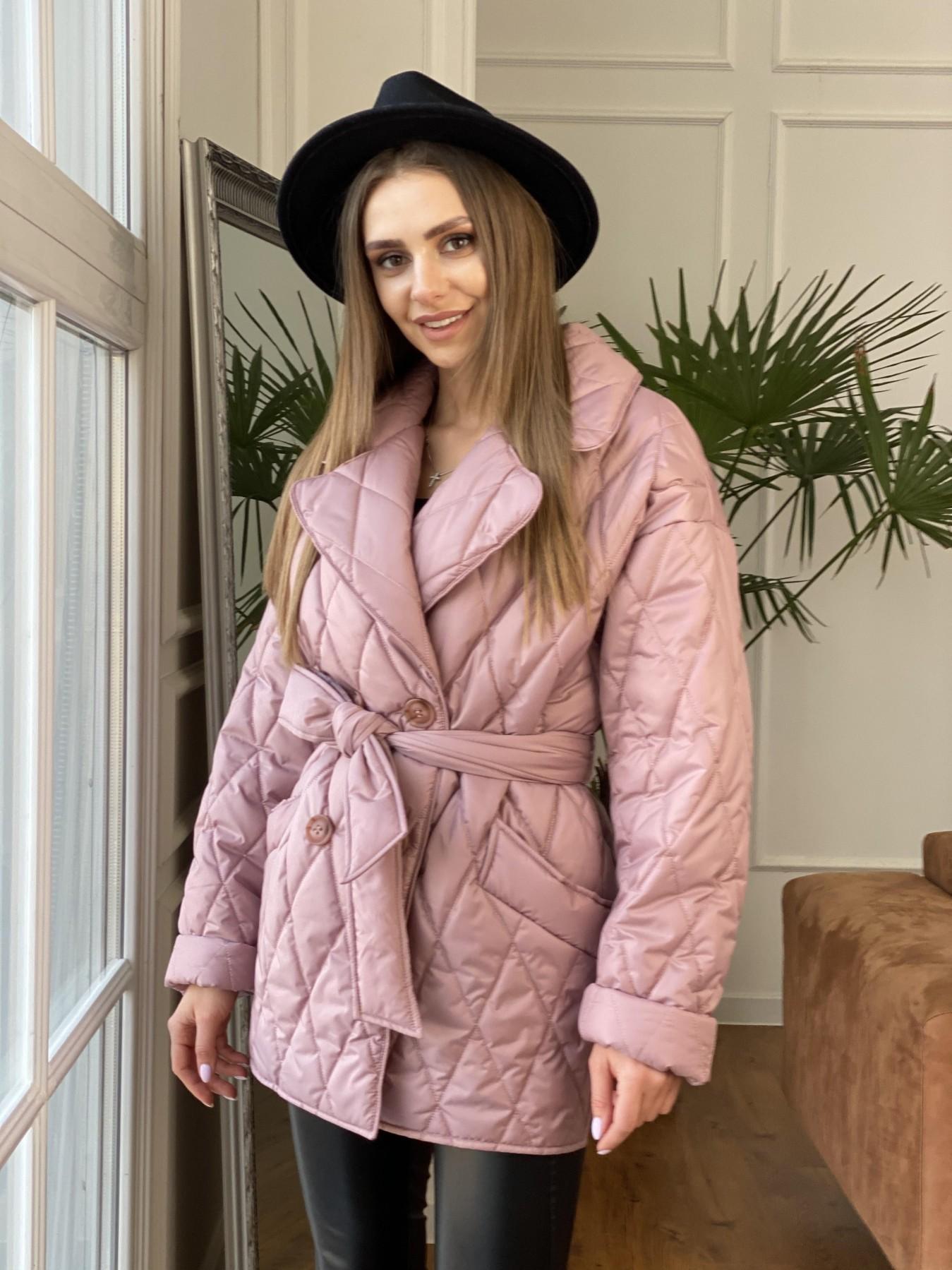 Норд куртка из плащевой ткани стеганая 10883 АРТ. 47465 Цвет: Пудра - фото 1, интернет магазин tm-modus.ru