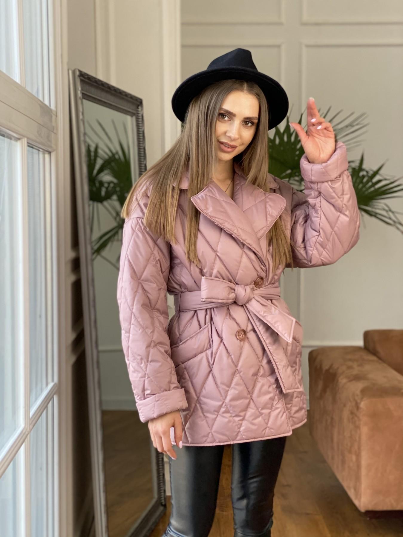 Норд куртка из плащевой ткани стеганая 10883 АРТ. 47465 Цвет: Пудра - фото 2, интернет магазин tm-modus.ru