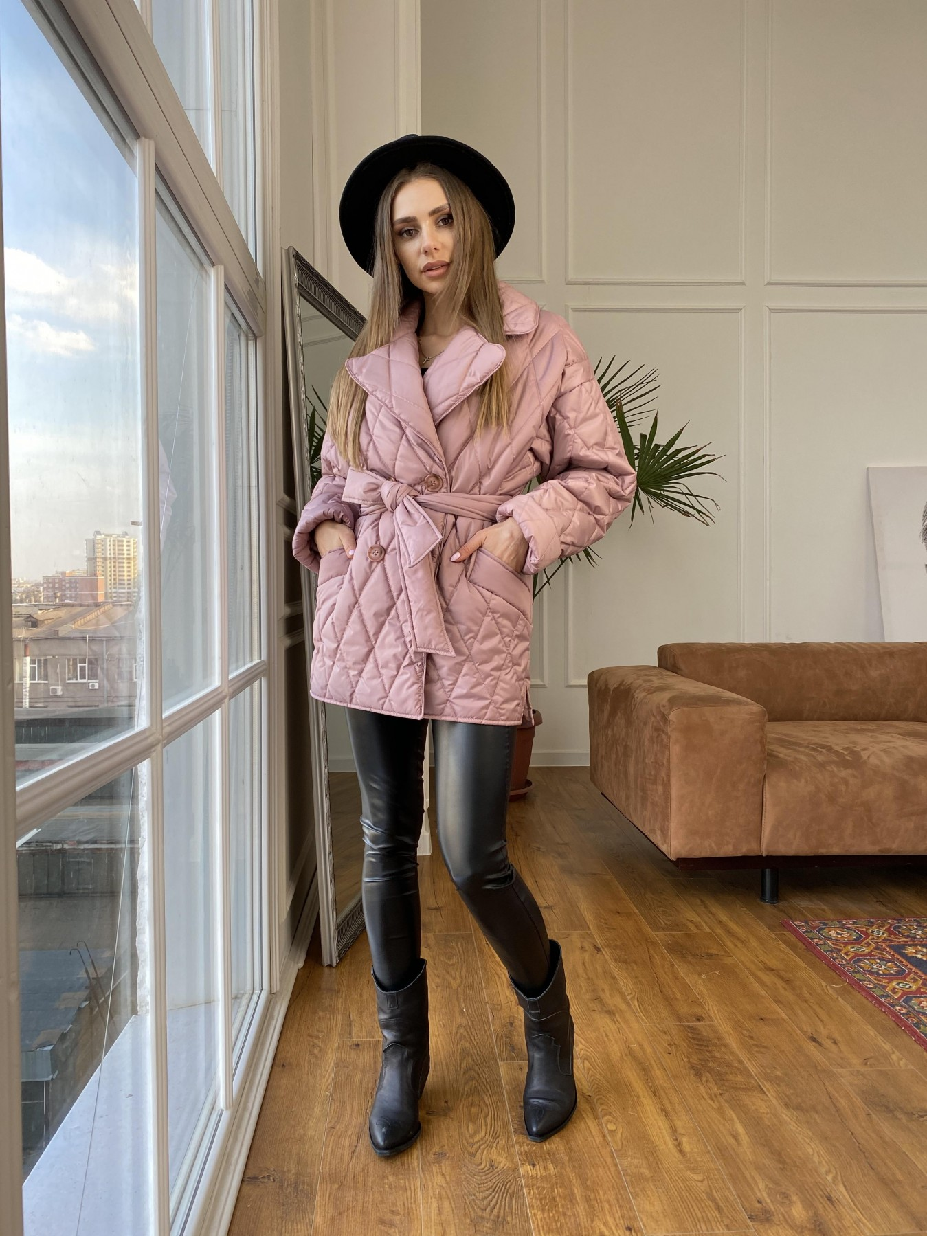 Норд куртка из плащевой ткани стеганая 10883 АРТ. 47465 Цвет: Пудра - фото 4, интернет магазин tm-modus.ru
